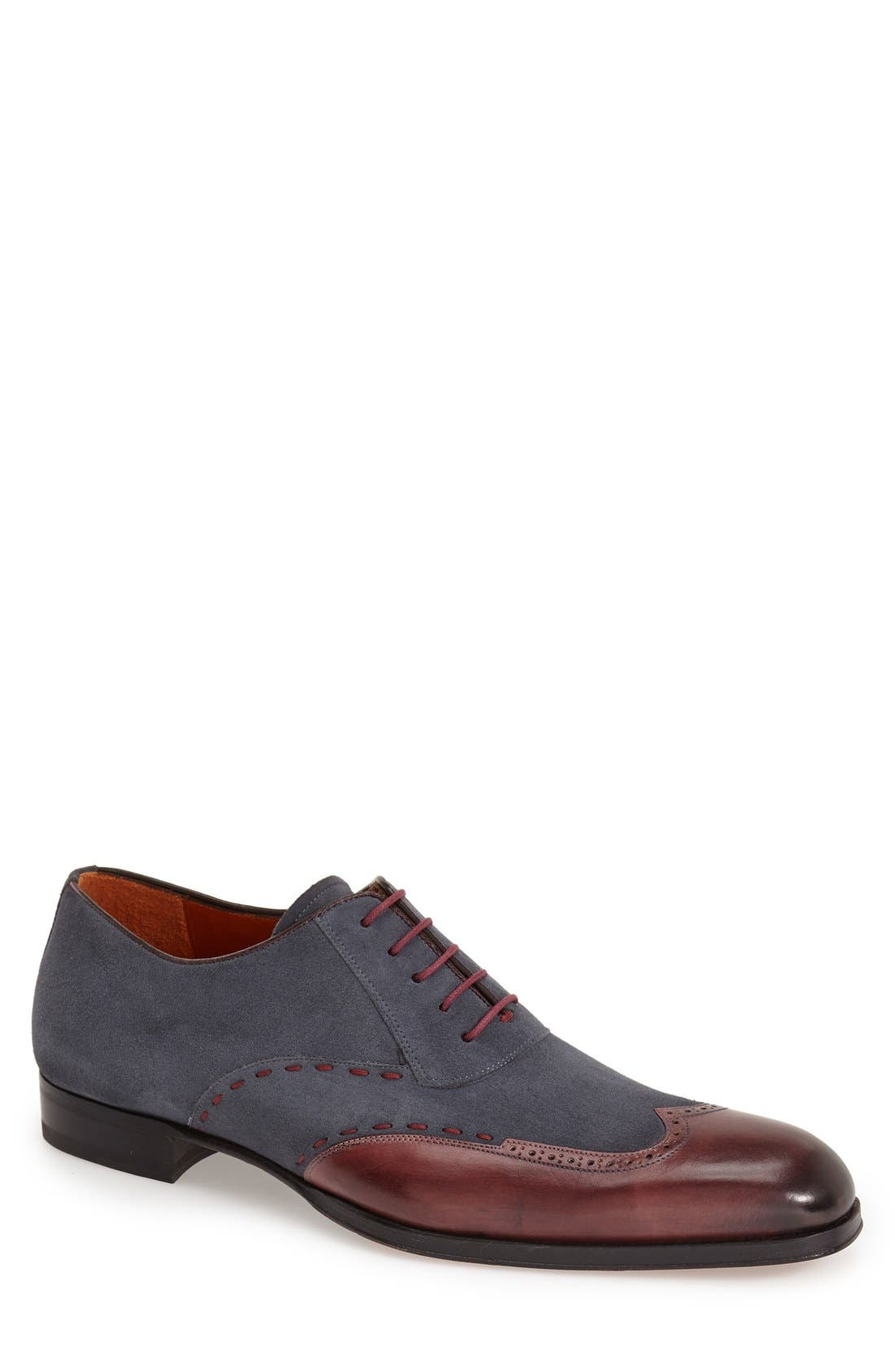 MEZLAN 'Ronda' Spectator Shoe in Burgundy/ Grey