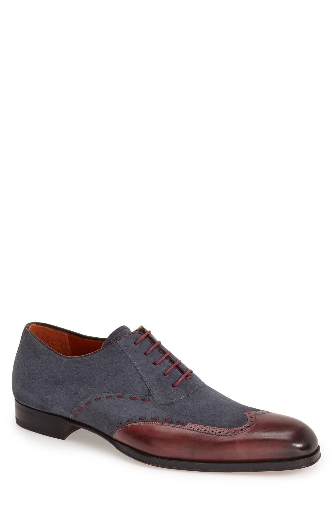 'Ronda' Spectator Shoe,                         Main,                         color, Burgundy/ Grey