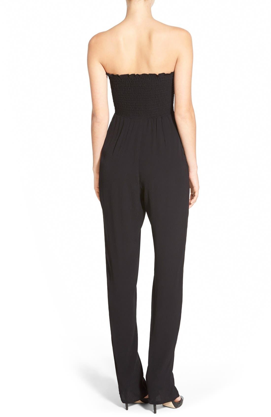 Alternate Image 2  - WAYF Strapless Jumpsuit