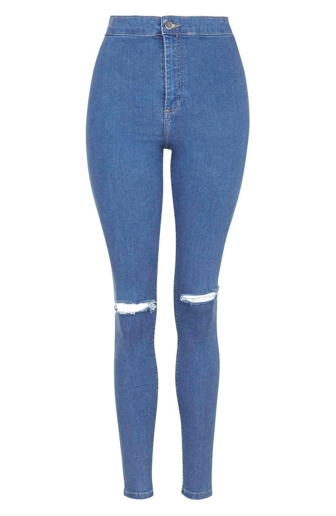Alternate Image 5  - Topshop 'Joni' RippedHigh Rise Skinny Jeans (Petite)