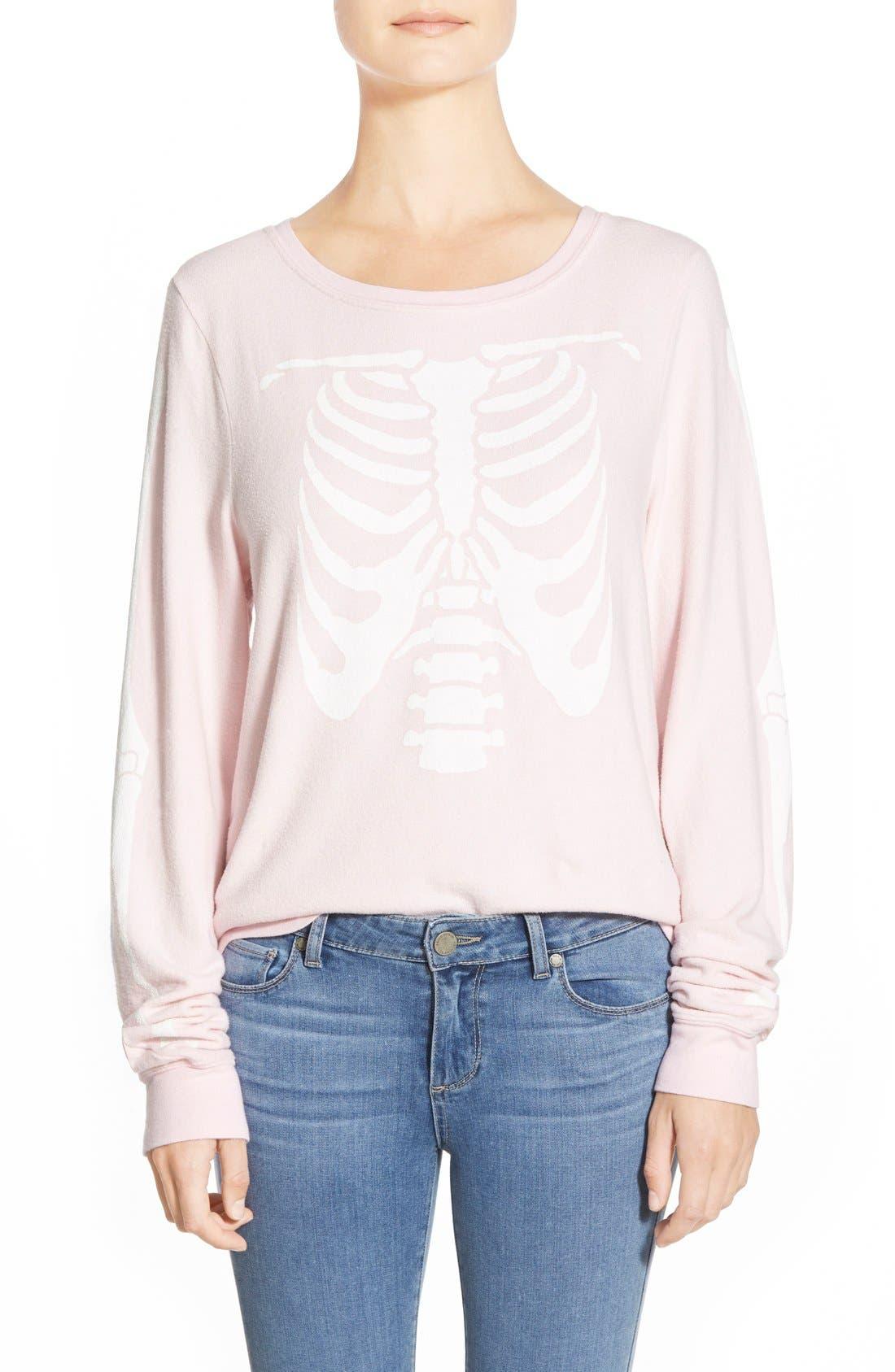 Alternate Image 1 Selected - Wildfox 'Inside Out' Long Sleeve Sweatshirt