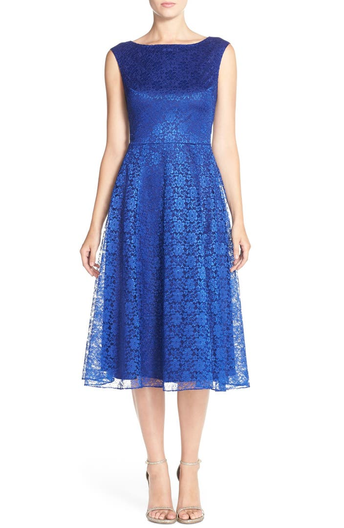 Betsey Johnson Lace Midi Fit Amp Flare Dress Nordstrom