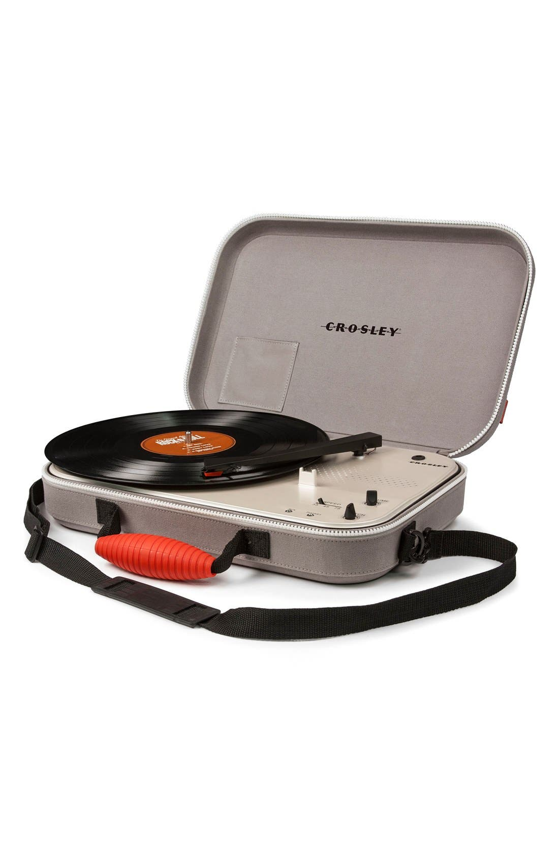 'Messenger' Portable Turntable,                             Main thumbnail 1, color,                             Grey