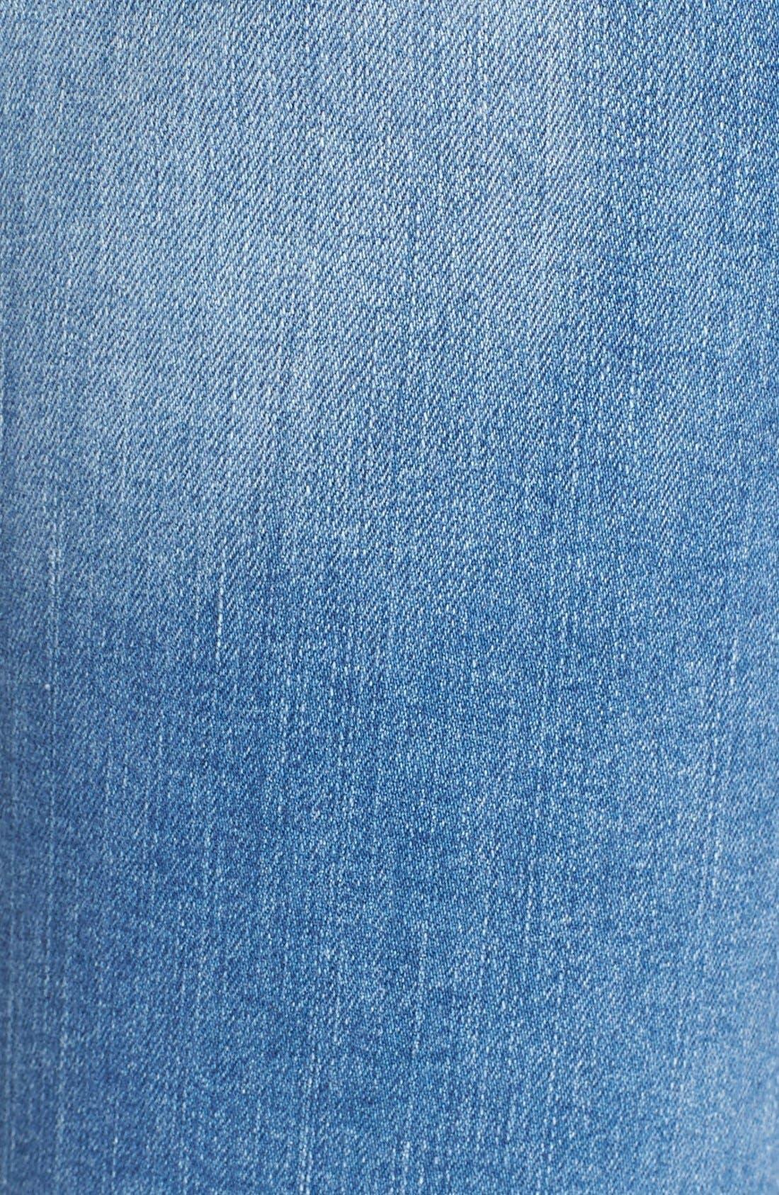 Alternate Image 5  - Mavi Jeans 'Peace' Stretch Flare Leg Jeans (Light Ripped)