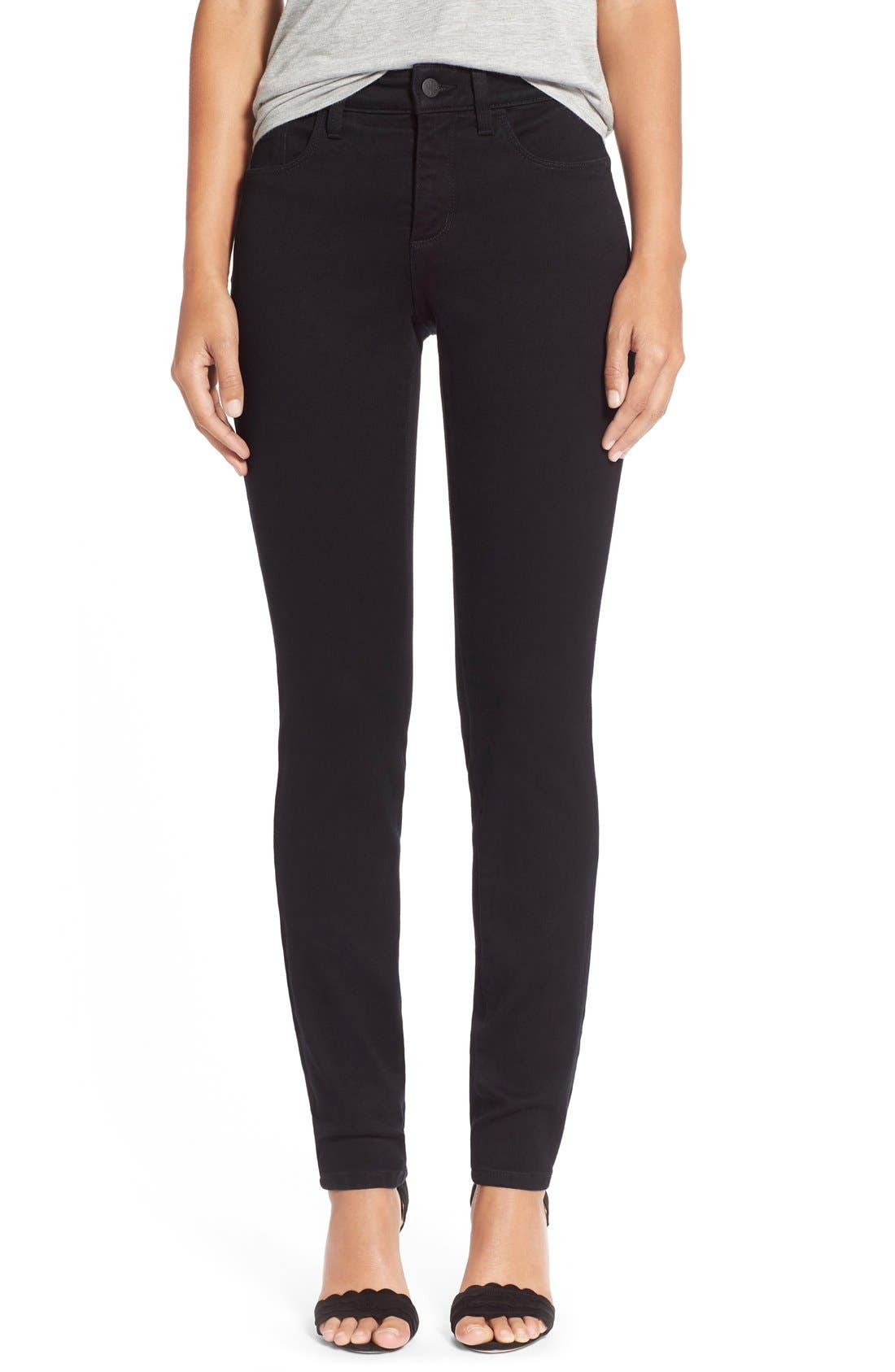 Alina Colored Stretch Skinny Jeans,                         Main,                         color, New Black