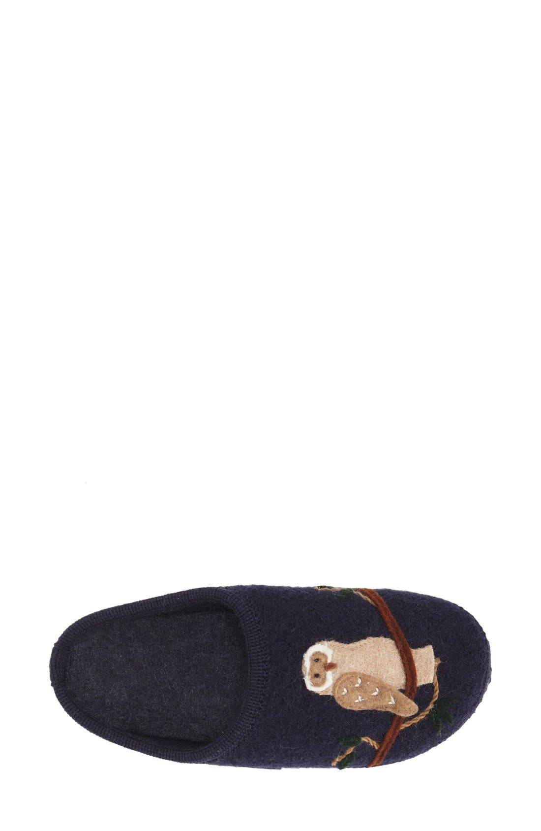 'Mado' Wool Slipper,                             Alternate thumbnail 3, color,                             Navy Wool
