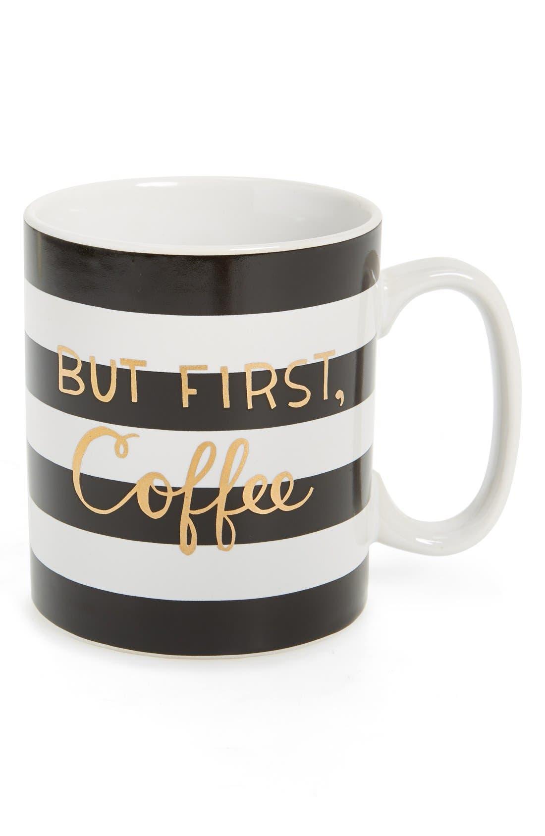 Alternate Image 1 Selected - Tri-Coastal Design 'But First, Coffee' Ceramic Mug