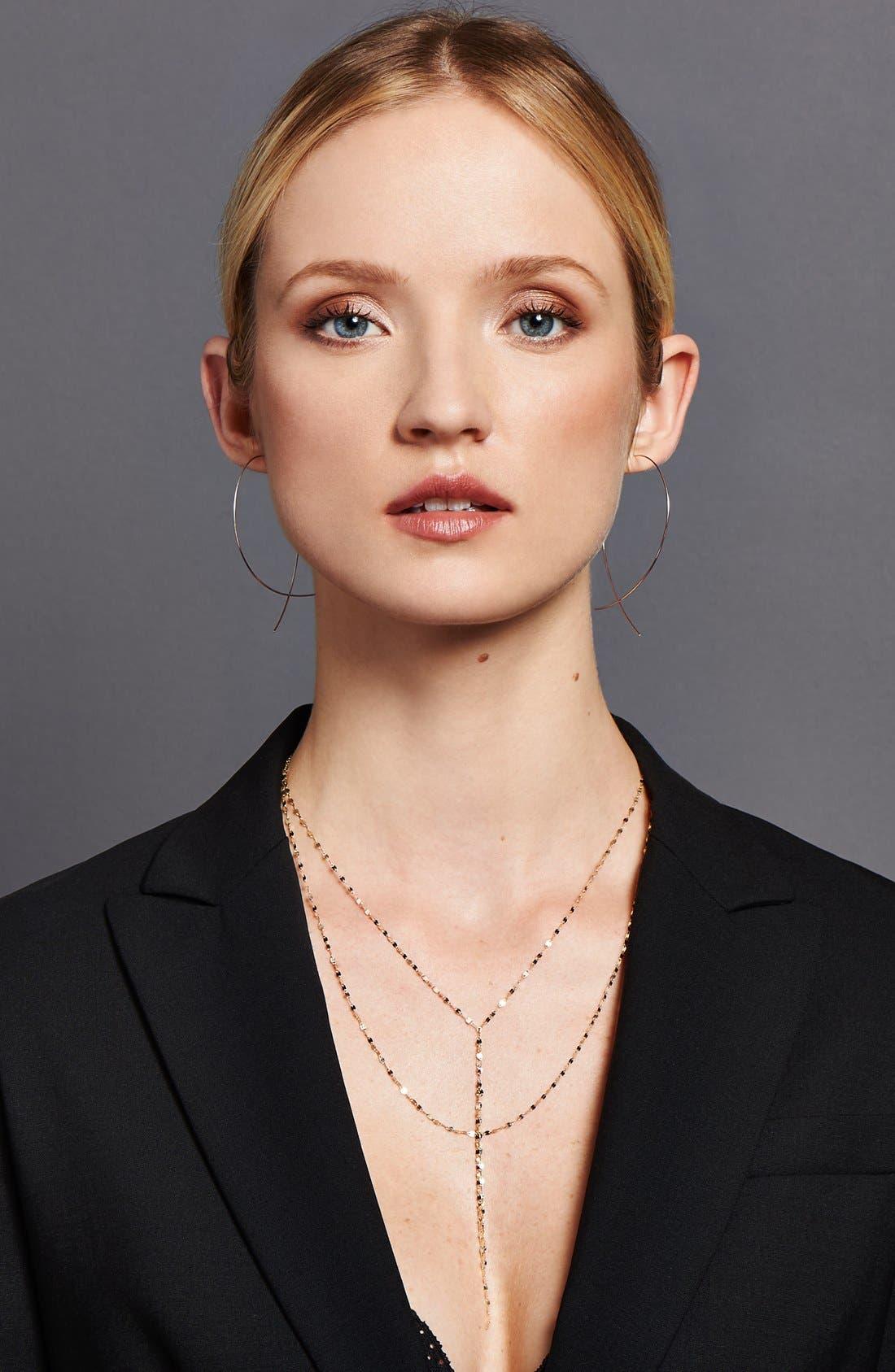 Alternate Image 4  - Lana Jewelry 'Large Upside Down' Hoop Earrings