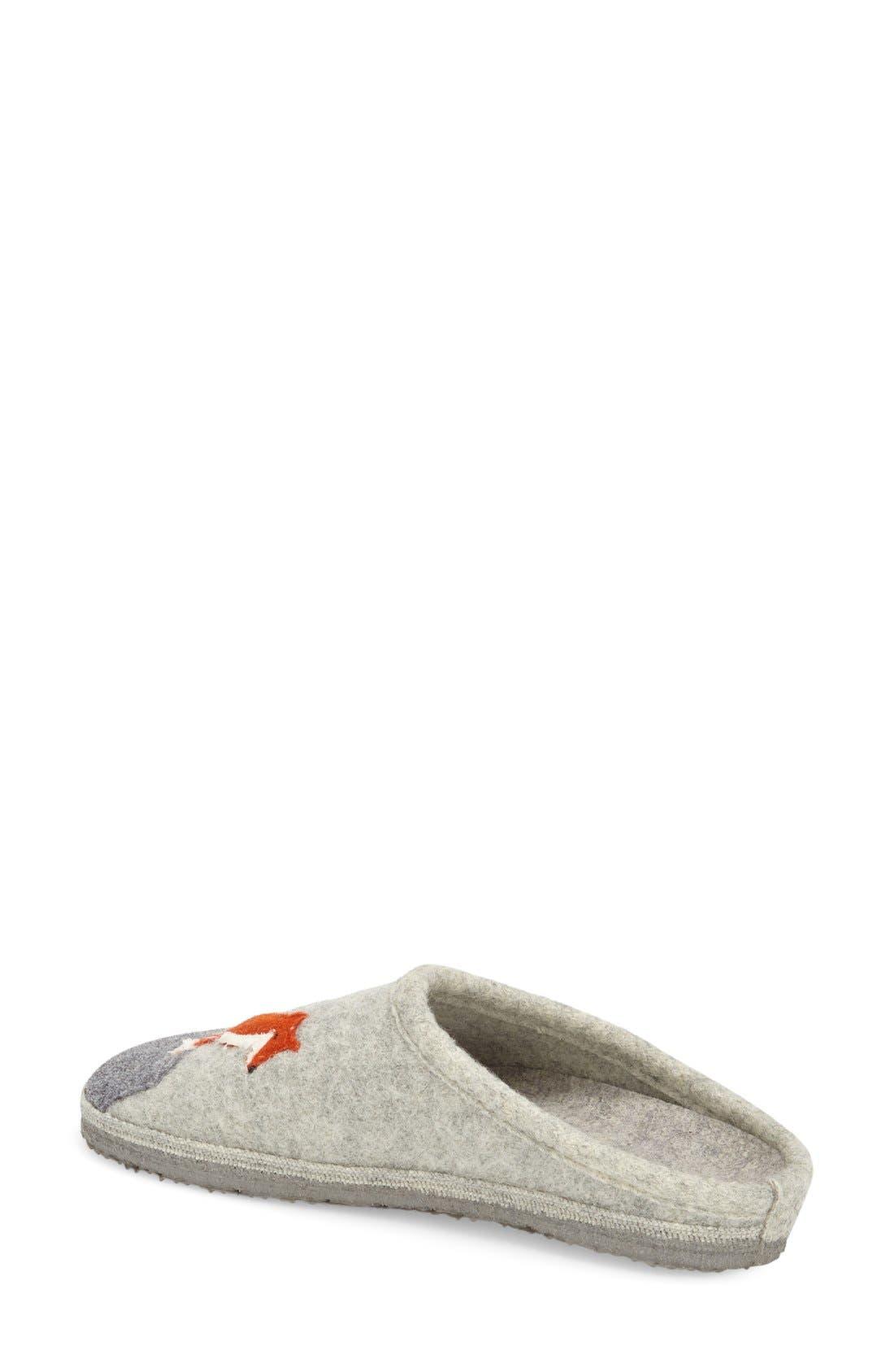 'Laura' Slipper,                             Alternate thumbnail 2, color,                             Grey Wool