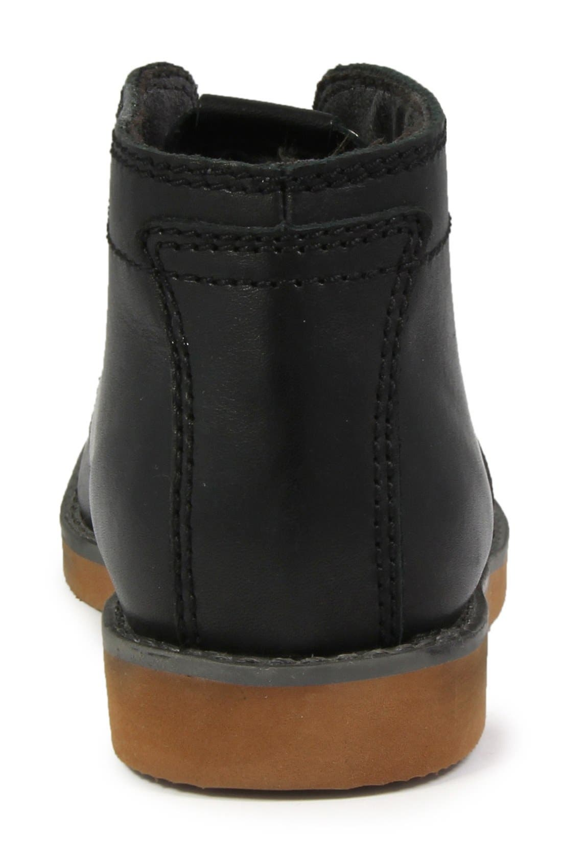 'Bucktown' Chukka Boot,                             Alternate thumbnail 7, color,                             Black Smooth With Brick Sole