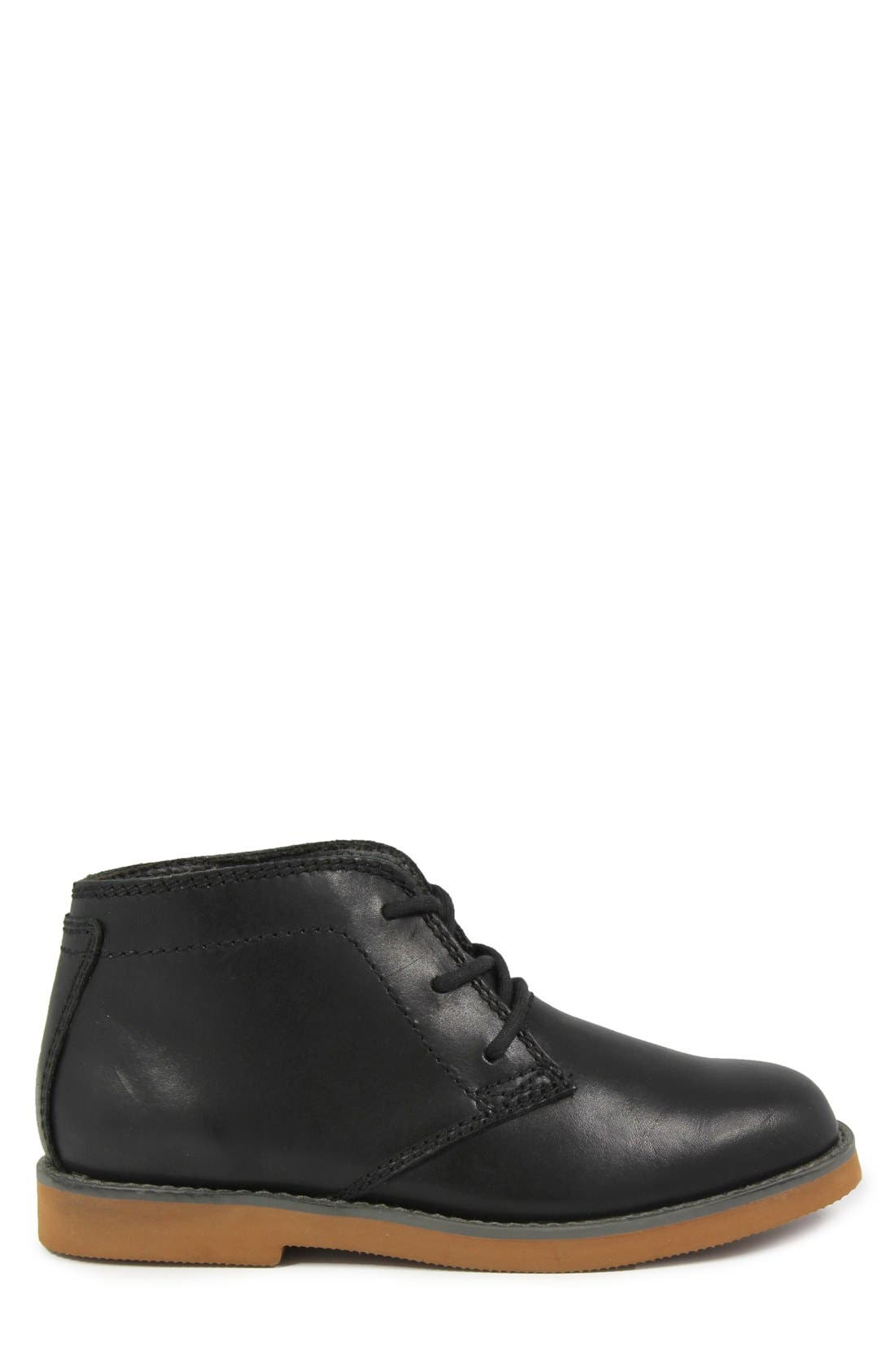 'Bucktown' Chukka Boot,                             Alternate thumbnail 3, color,                             Black Smooth With Brick Sole