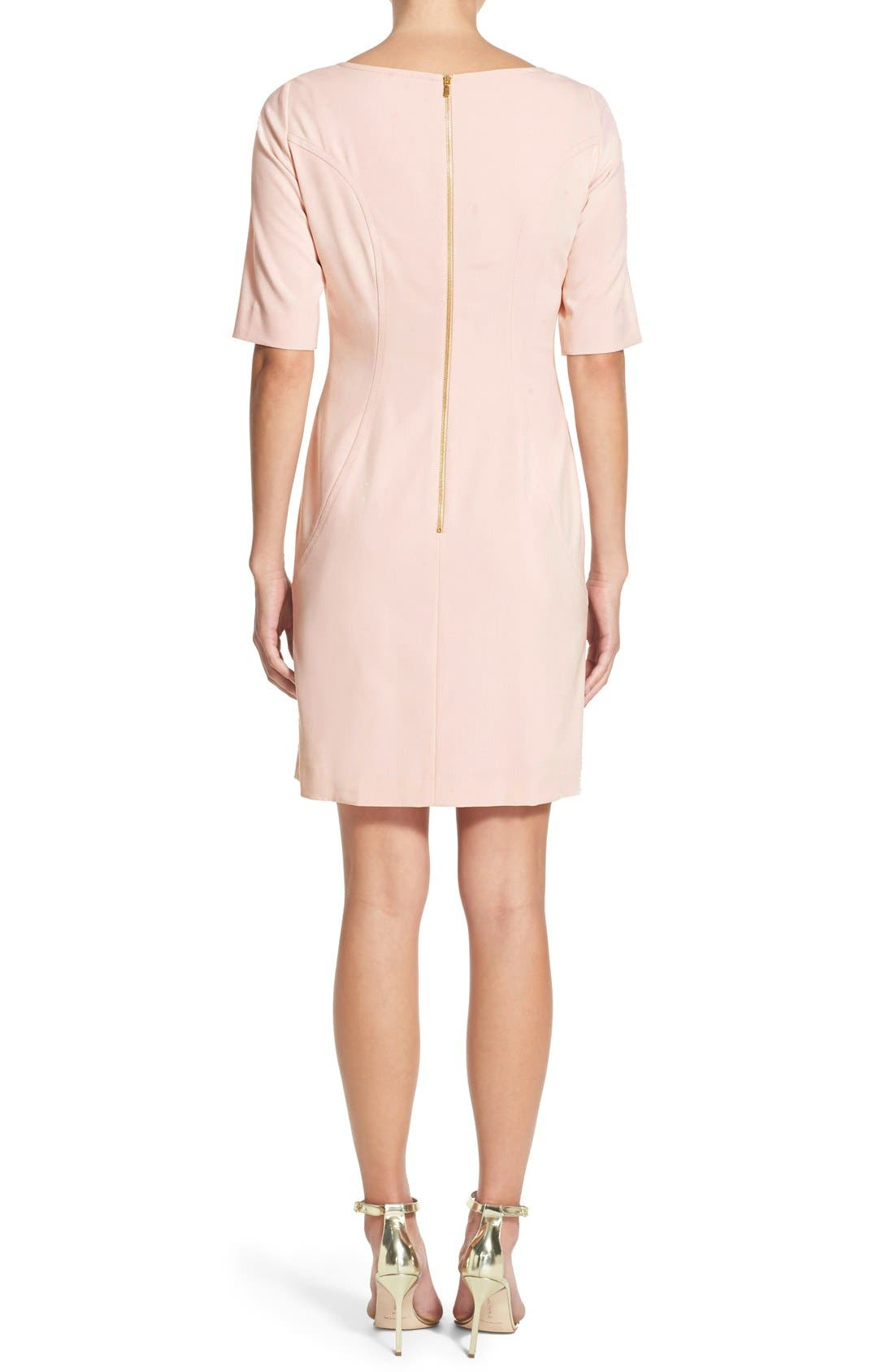 Alternate Image 2  - Tahari Seamed A-Line Dress (Regular & Petite)