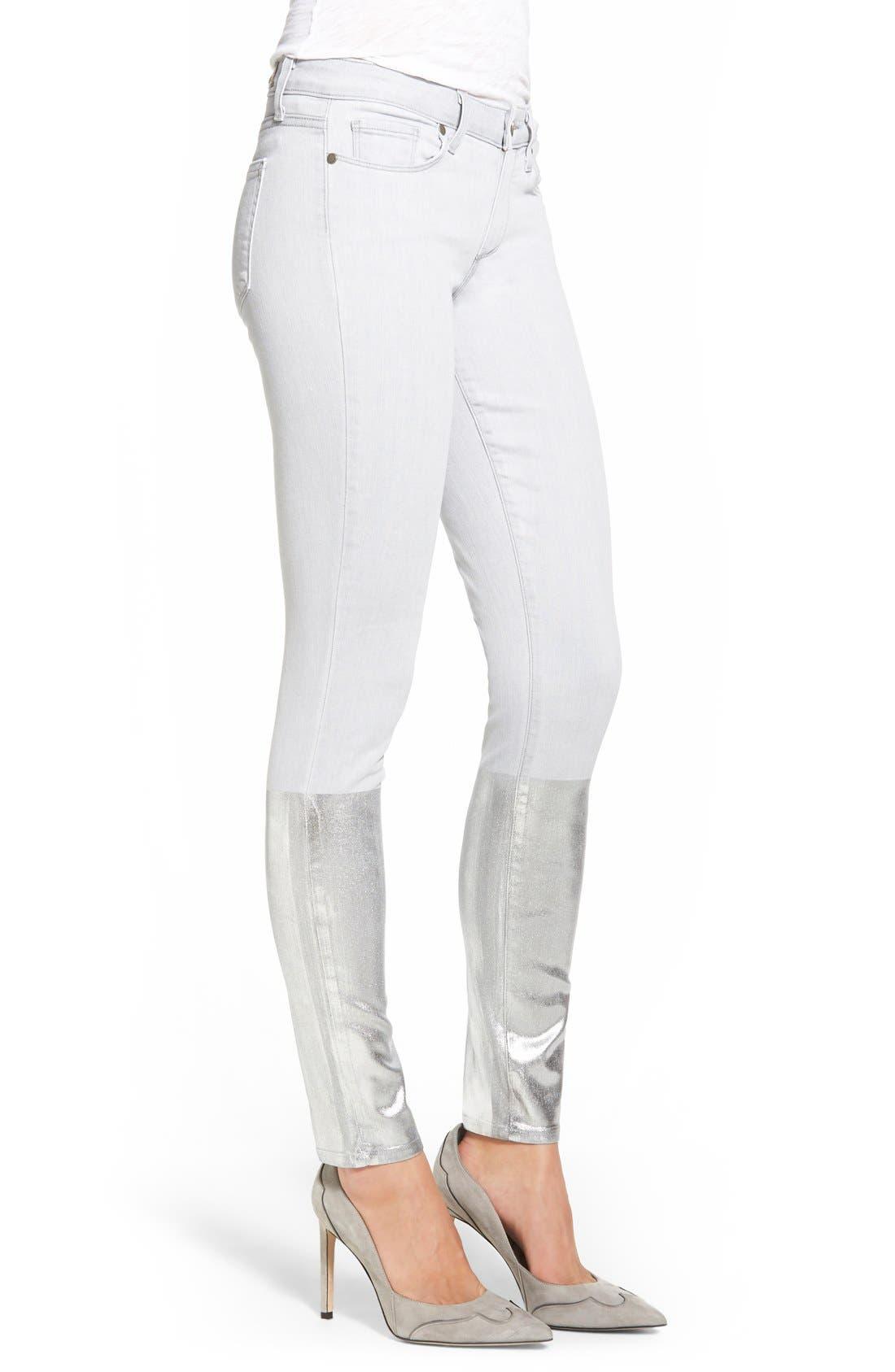 Alternate Image 2  - PaigeDenim 'Verdugo' Ankle Ultra Skinny Jeans (Light Grey/Silver Solstice)