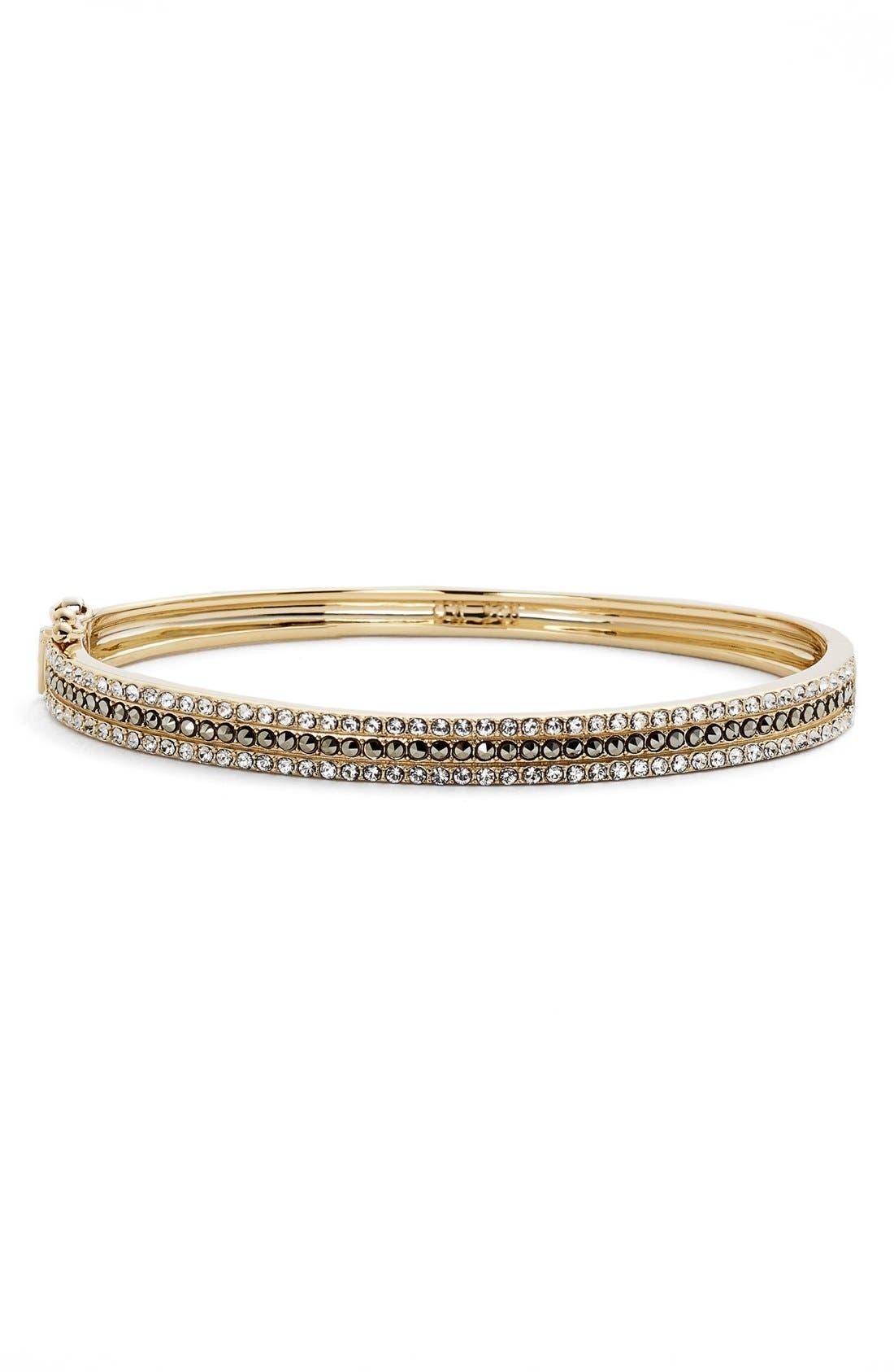 Three Row Bangle Bracelet,                             Main thumbnail 1, color,                             Gold