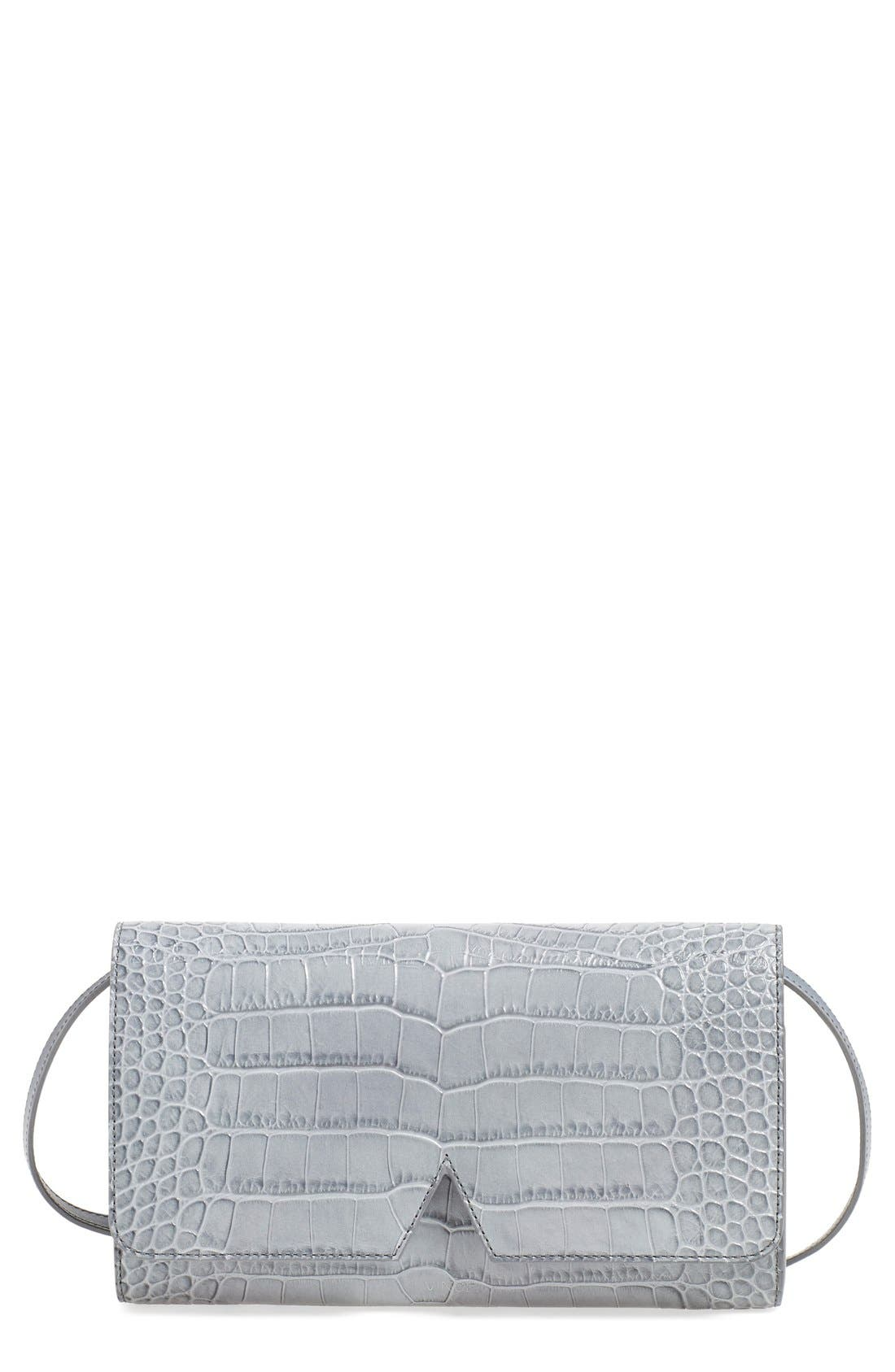 Main Image - VinceCrocEmbossed Convertible Clutch