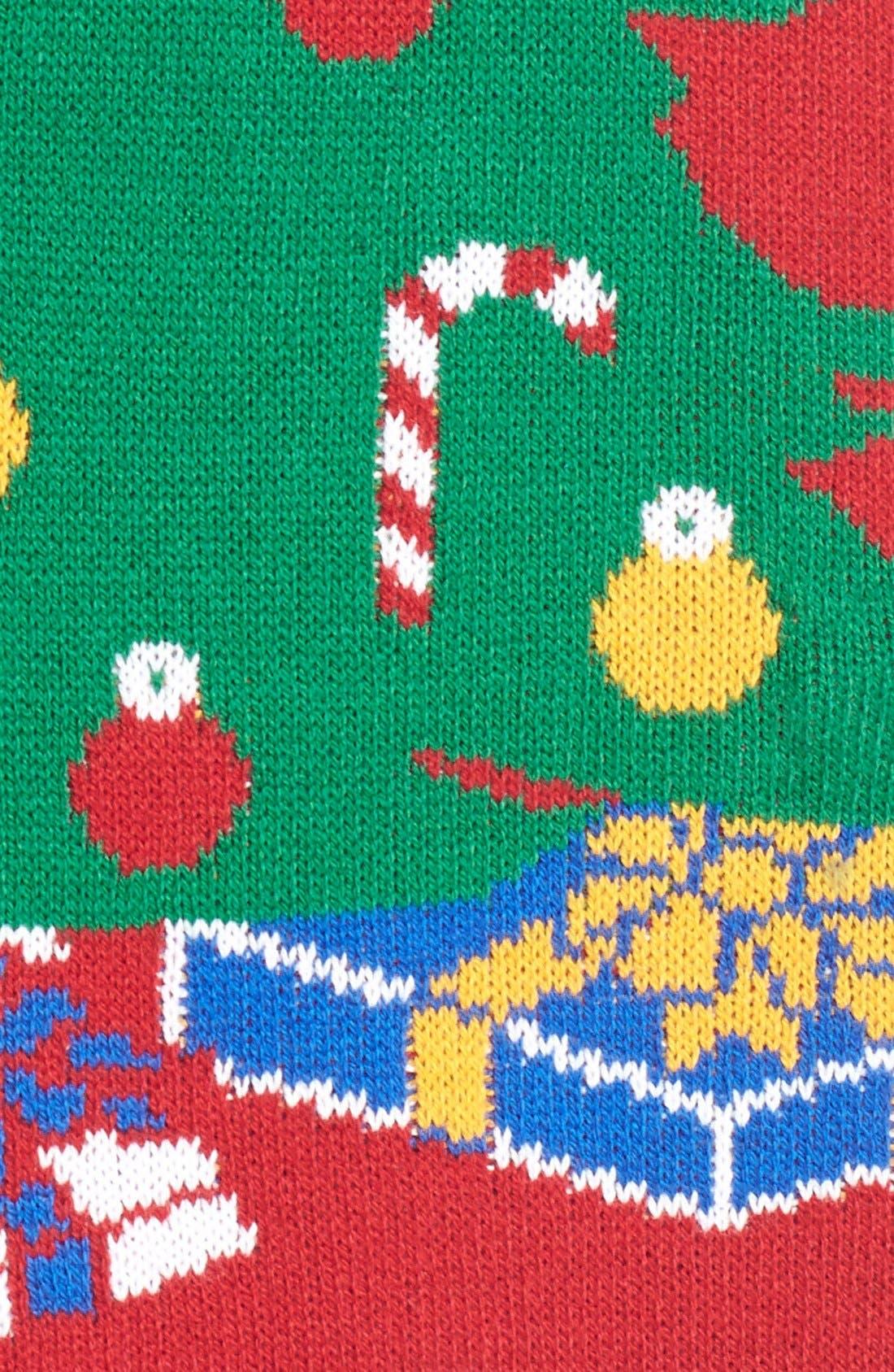Alternate Image 5  - Ugly Christmas Sweater Light-Up Christmas Tree Sweater