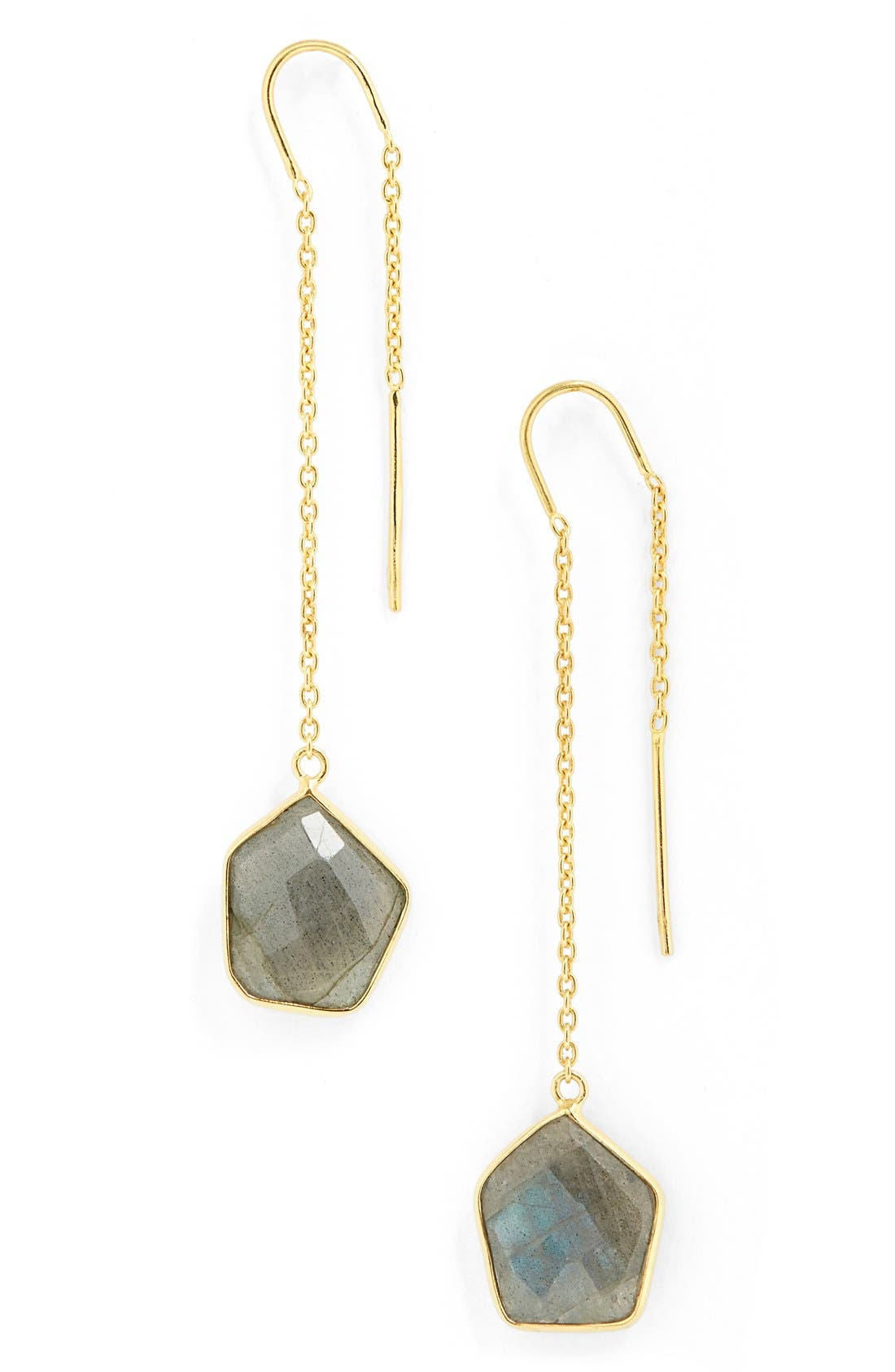Main Image - Argento Vivo 'Geo Stone' Threader Earrings