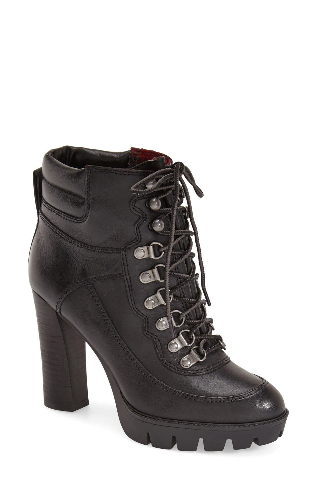 Main Image - Nine West 'Abrial' Lace-Up Bootie (Women)