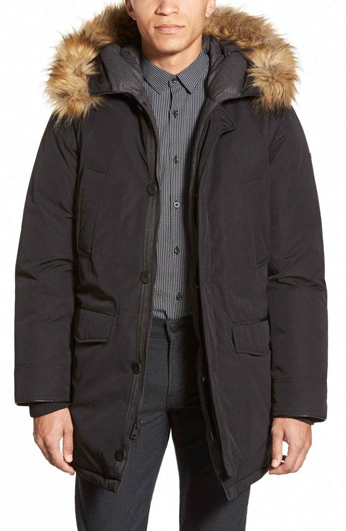 Vince Camuto Down & Feather Parka with Faux Fur Trim | Nordstrom
