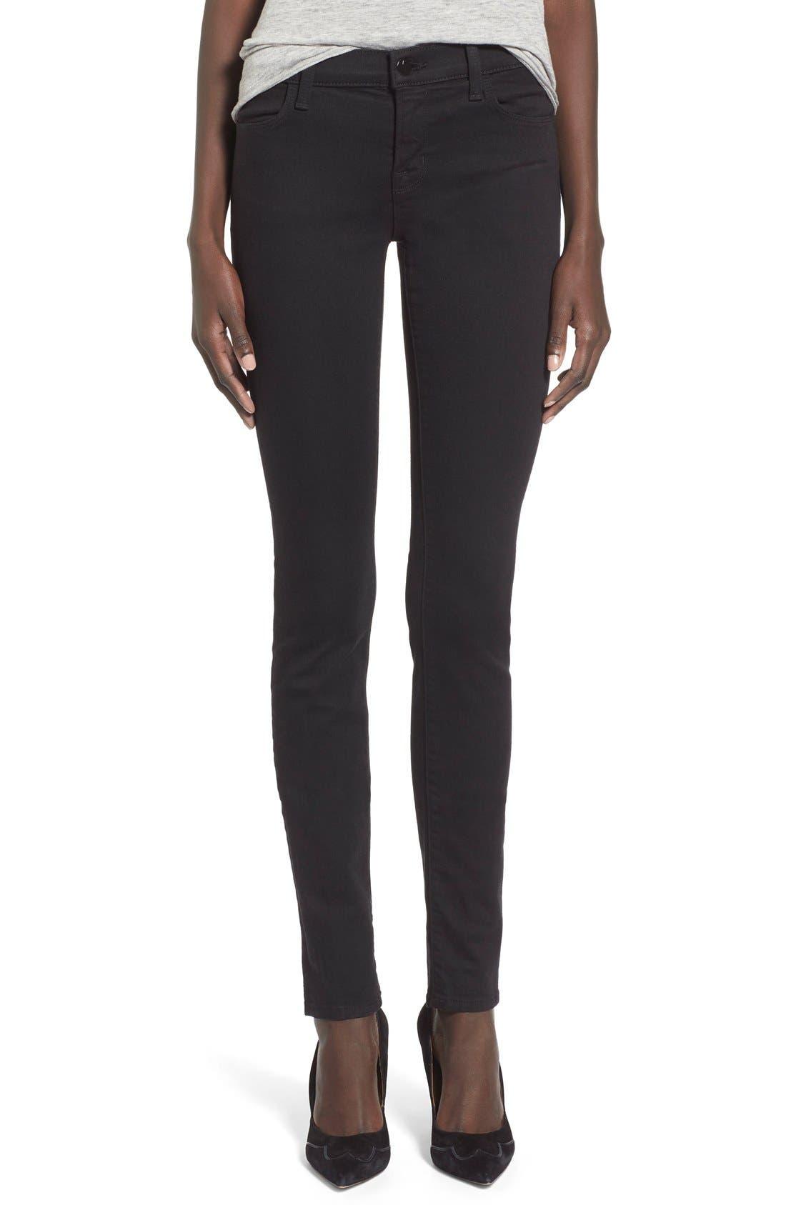 J Brand Super Skinny Jeans (Seriously Black)