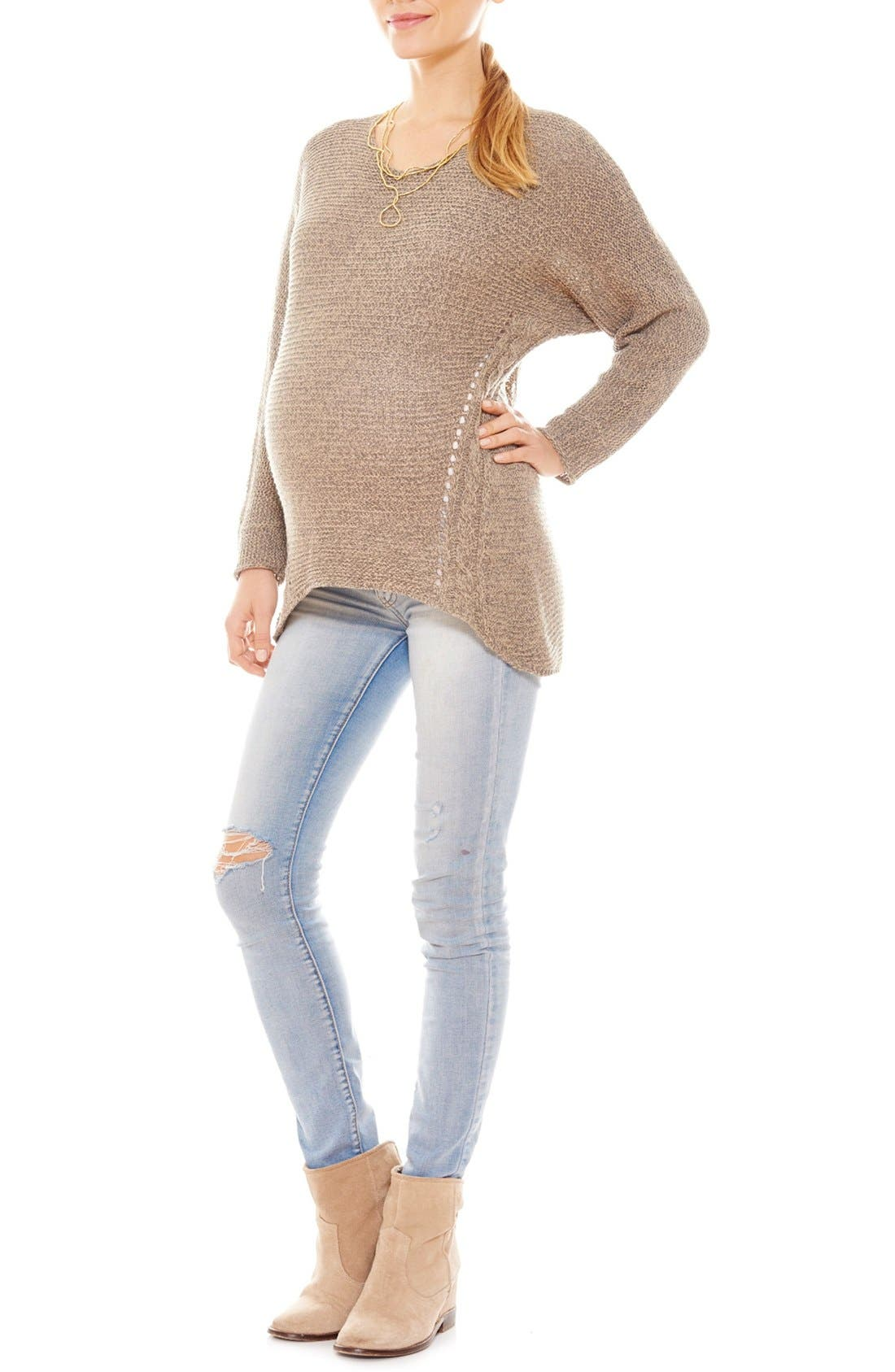 ImanimoOpen KnitMaternity Sweater