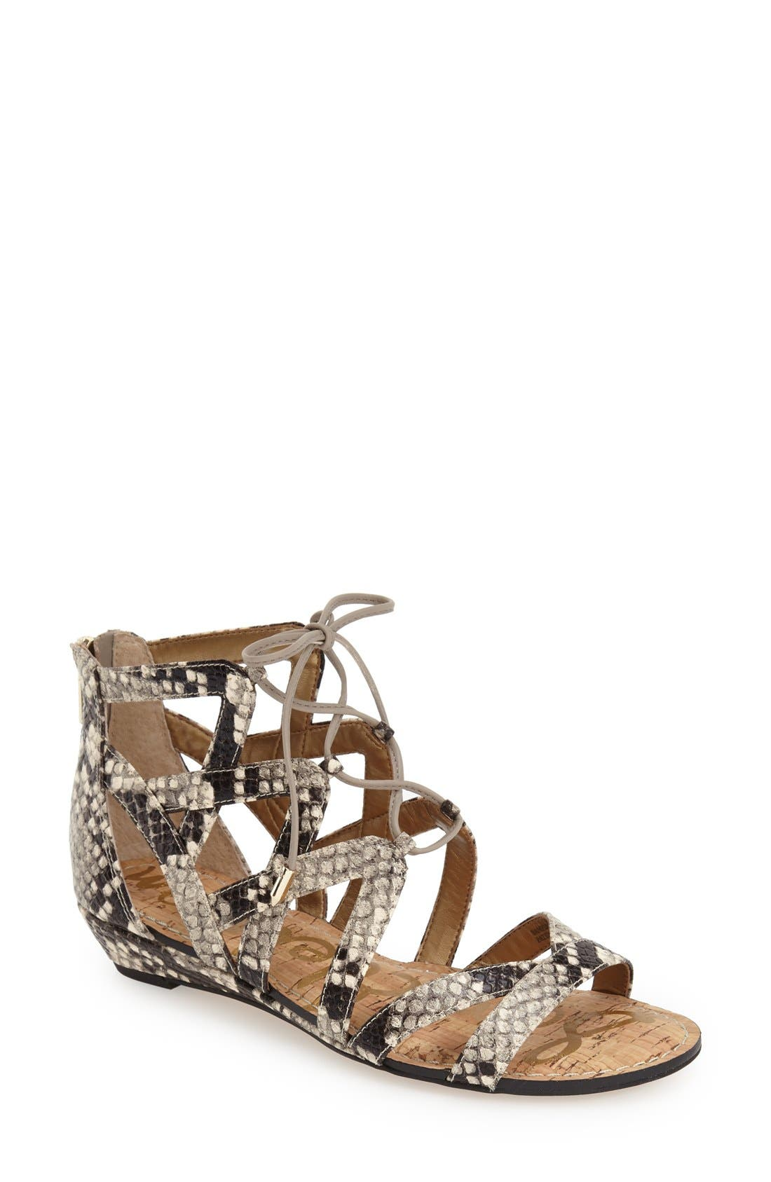 Alternate Image 1 Selected - Sam Edelman 'Dawson' Ghillie Sandal (Women)
