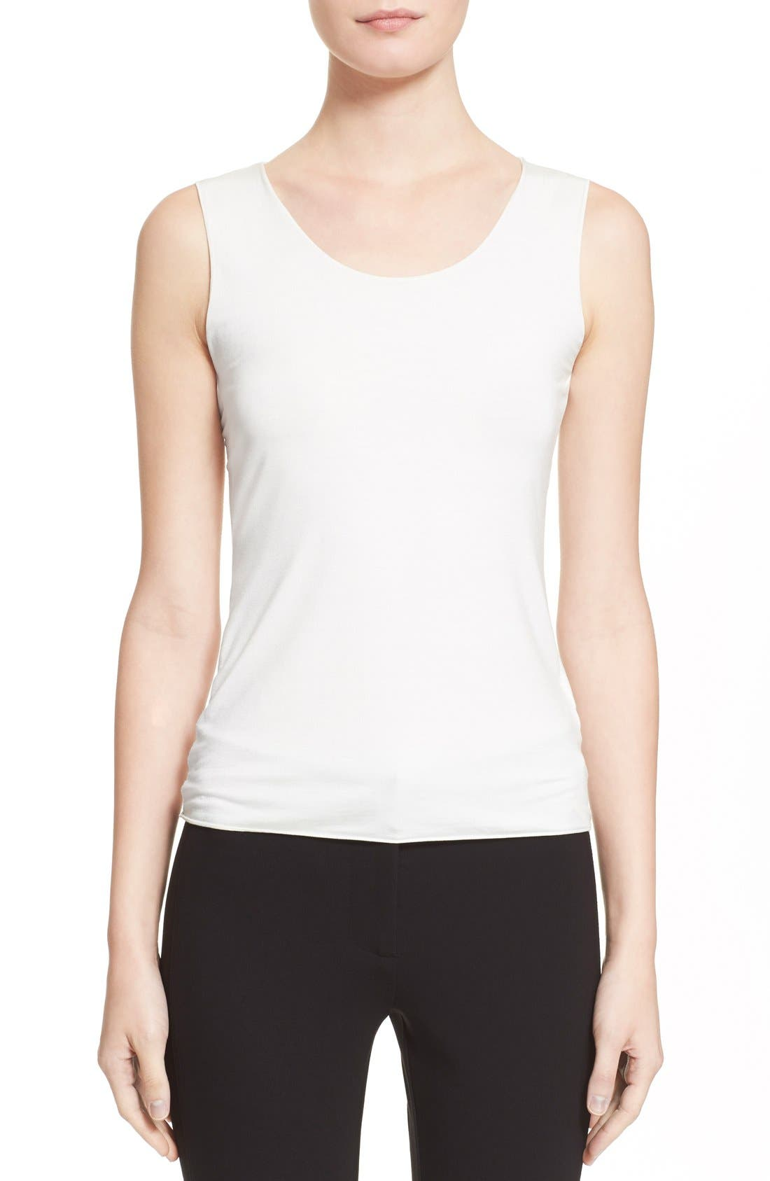 Jersey Tank,                             Main thumbnail 1, color,                             Solid White