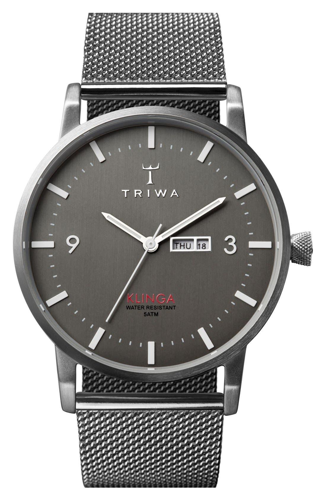 Main Image - TRIWA Klinga Mesh Strap Watch, 38mm