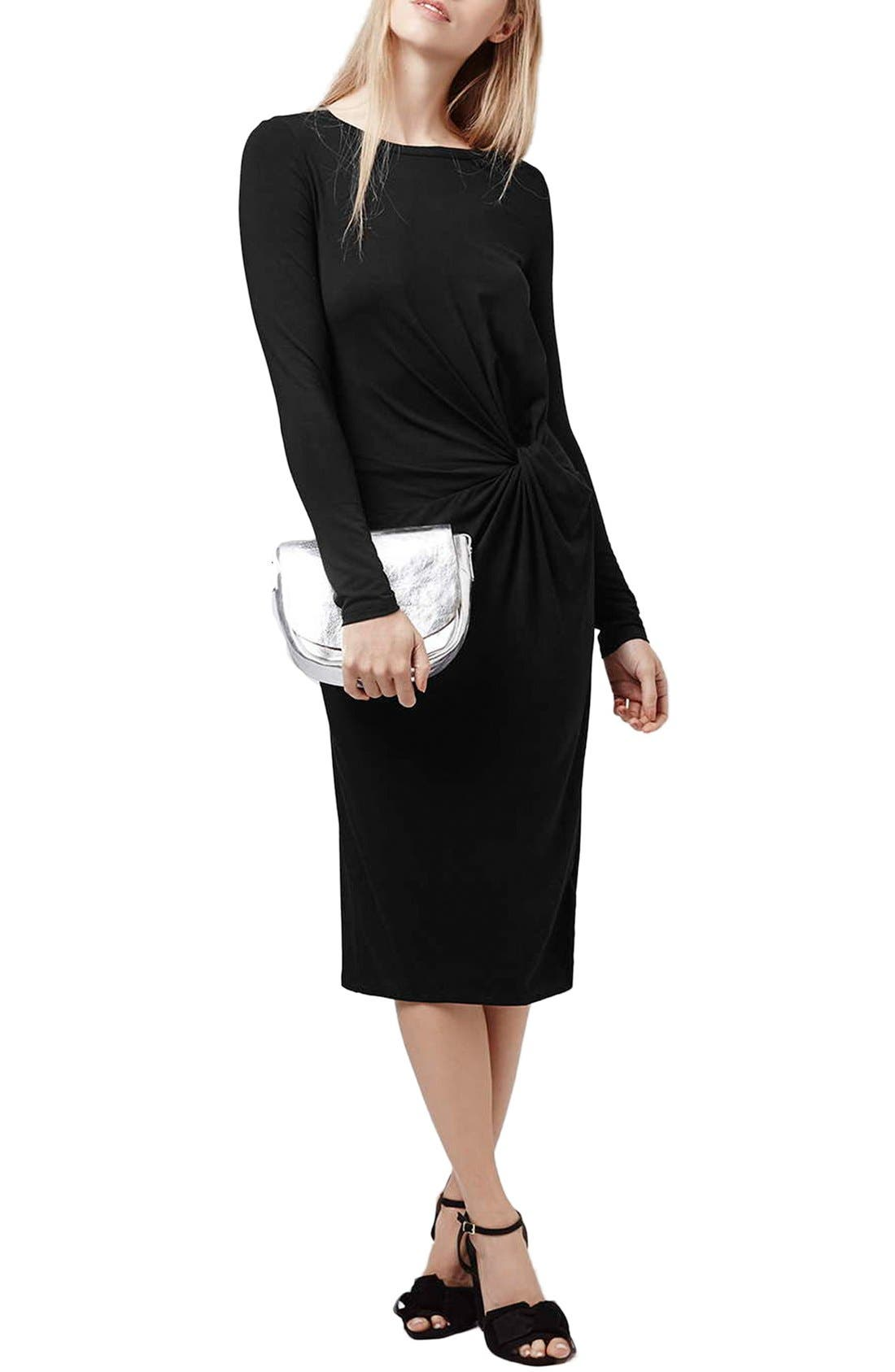 Main Image - Topshop Knot Front Dress (Regular & Petite)