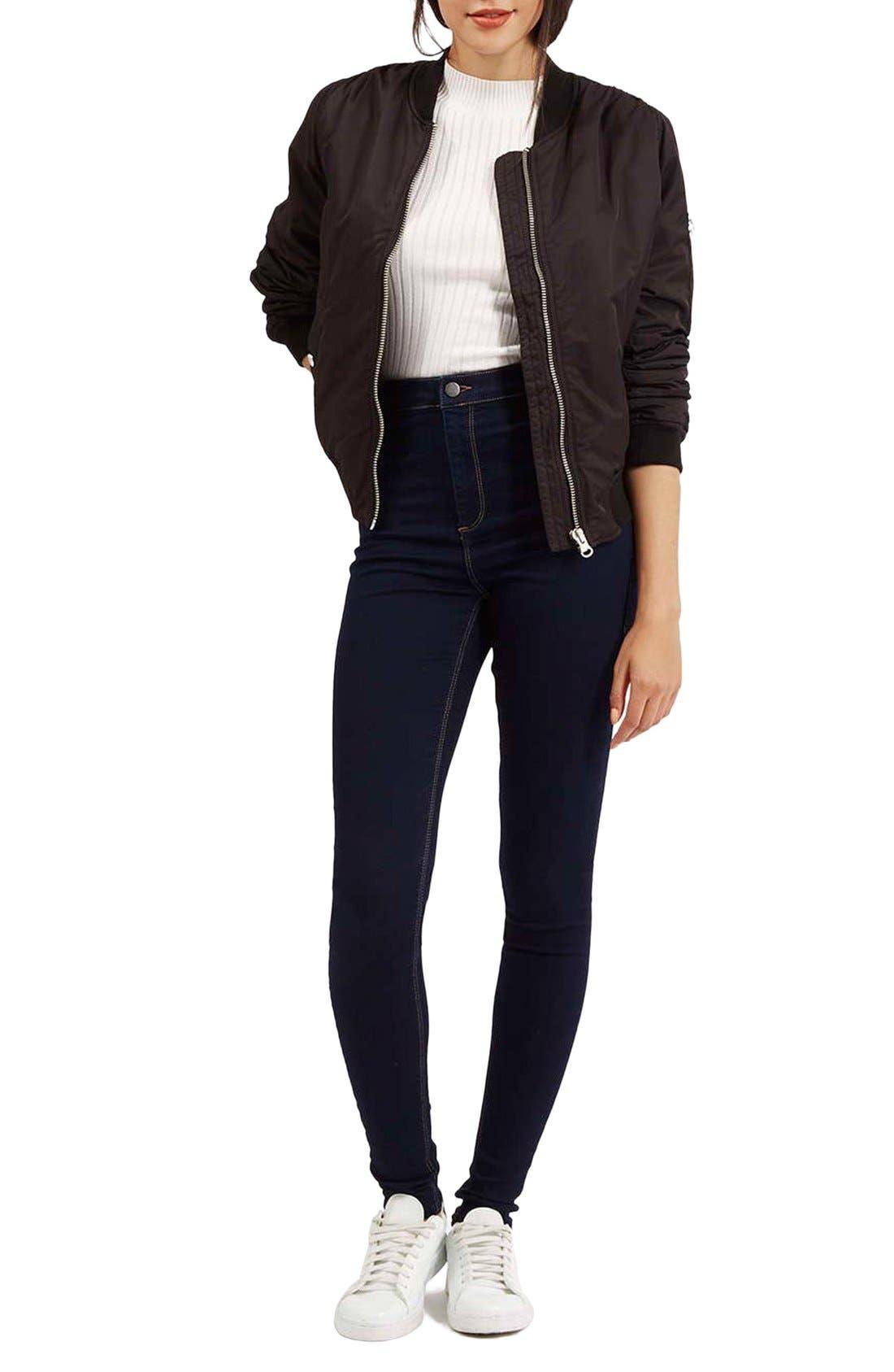 Alternate Image 2  - Topshop Moto 'Joni' Super Skinny Jeans (Mid Denim) (Tall)