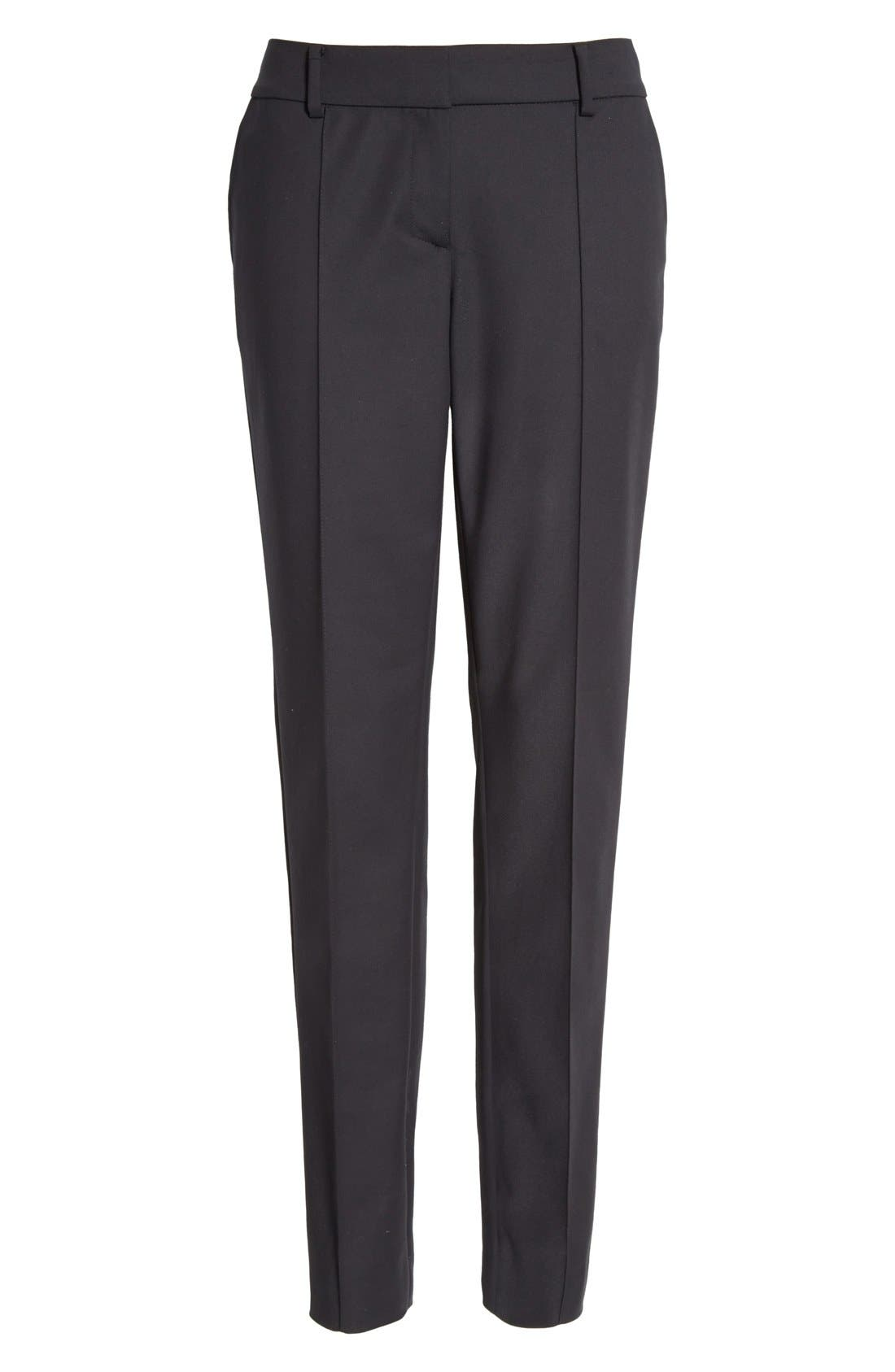 Alternate Image 4  - St. John Collection 'Jennifer' Stretch Micro Ottoman Ankle Pants