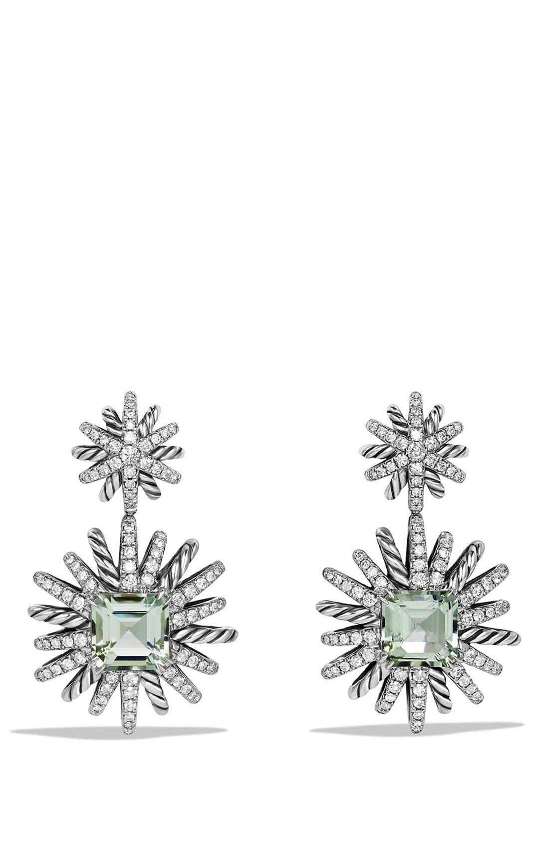 David Yurman 'Starburst' Earrings with Diamonds in Silver