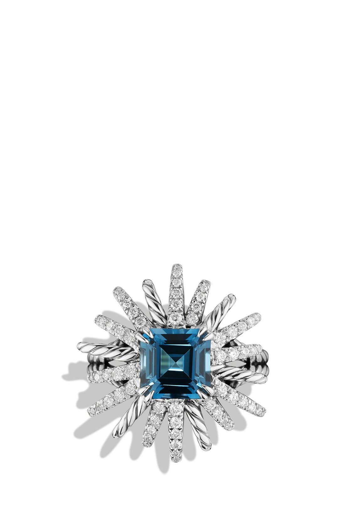 Alternate Image 3  - David Yurman 'Starburst' Ring with Diamonds in Silver