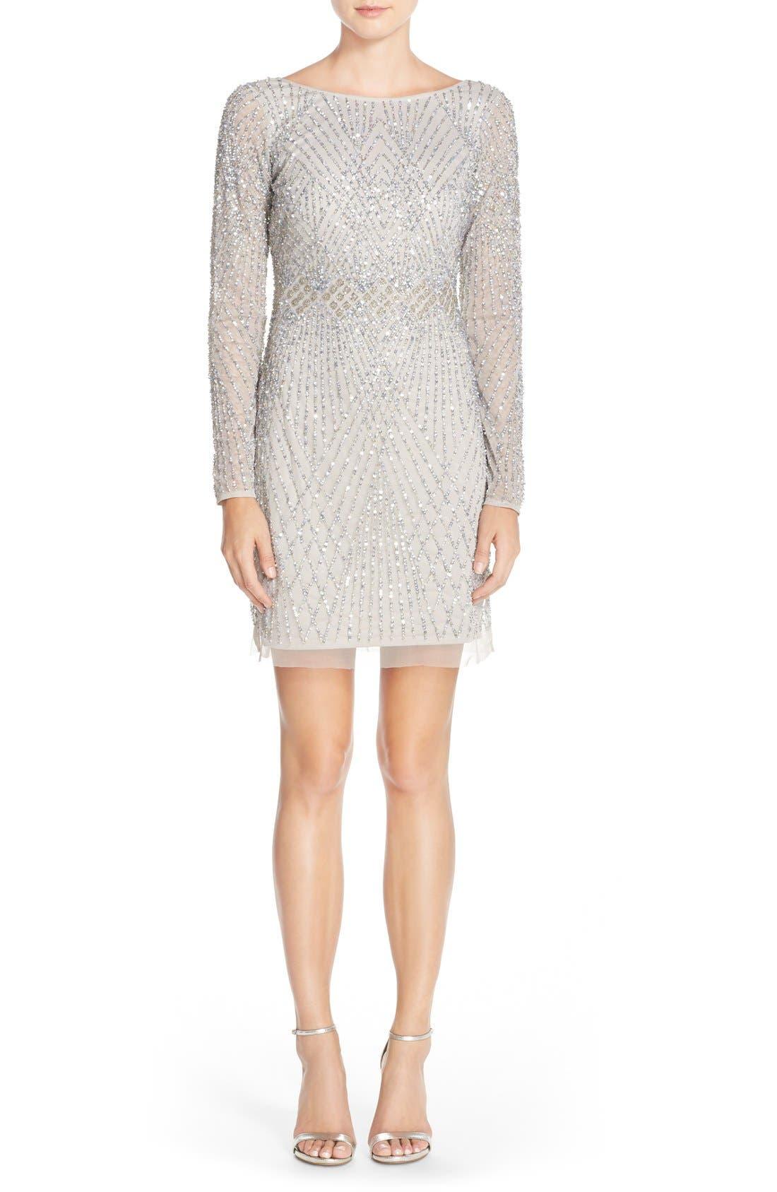 Alternate Image 4  - Aidan Mattox Embellished Mesh Sheath Dress