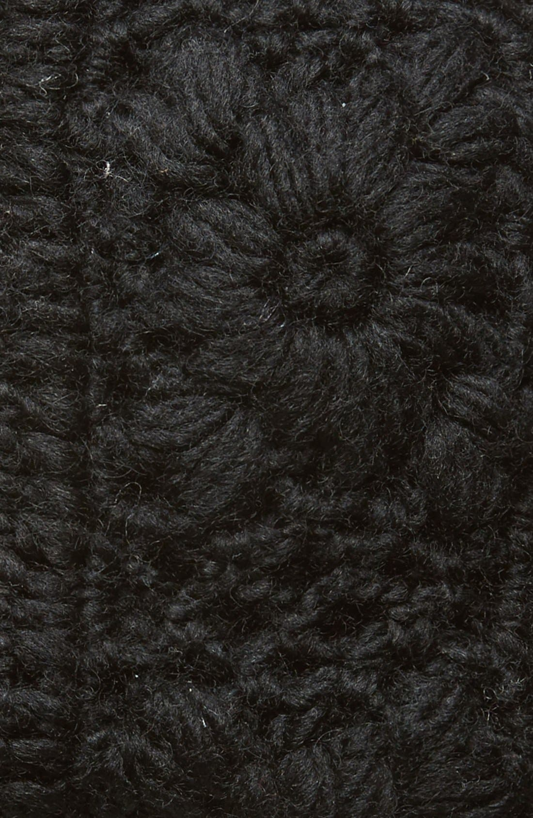 Crochet Ear Warmer Headband,                             Alternate thumbnail 2, color,                             Black