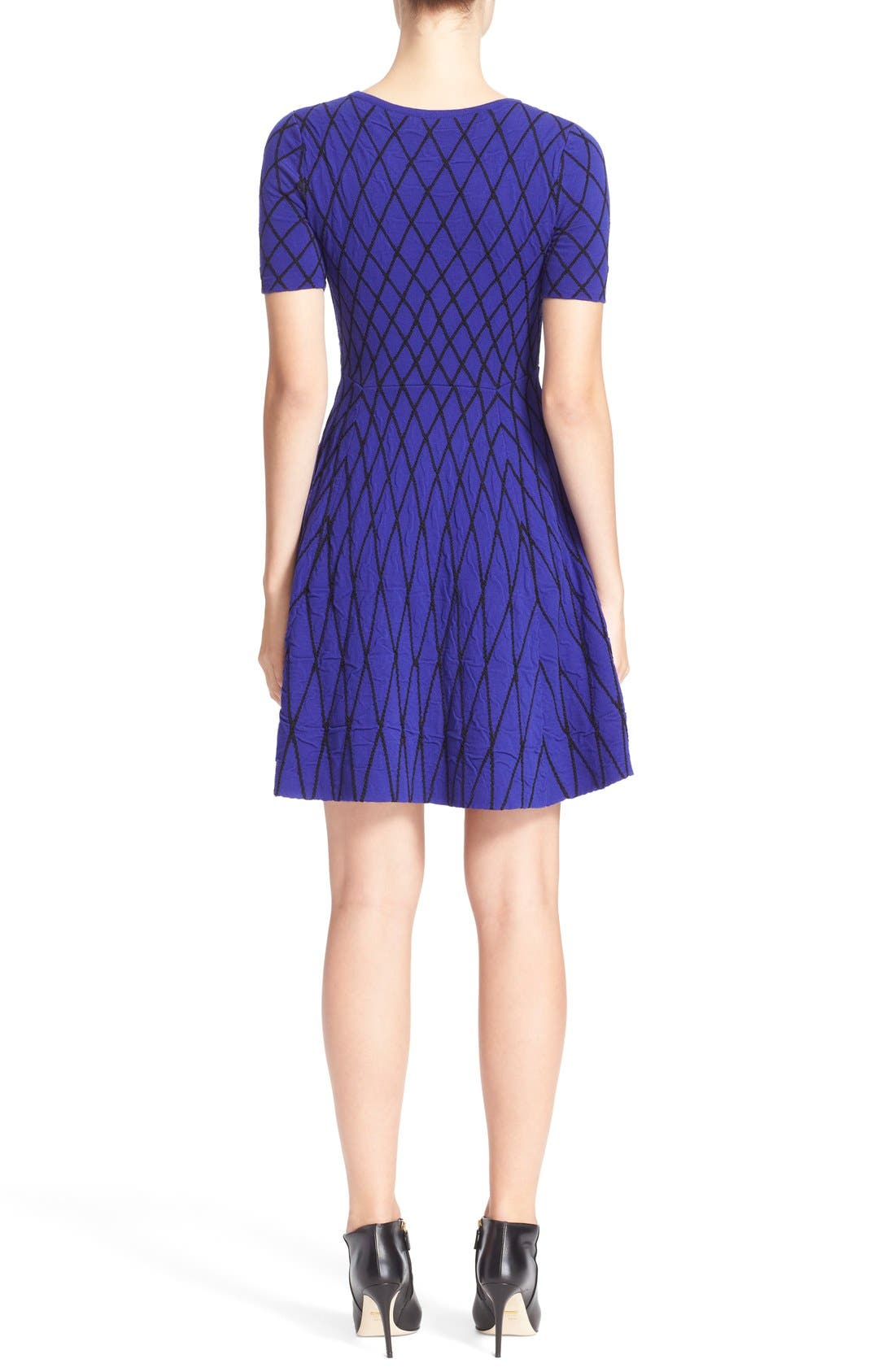 Alternate Image 2  - Milly Diamond Jacquard Fit & Flare Dress