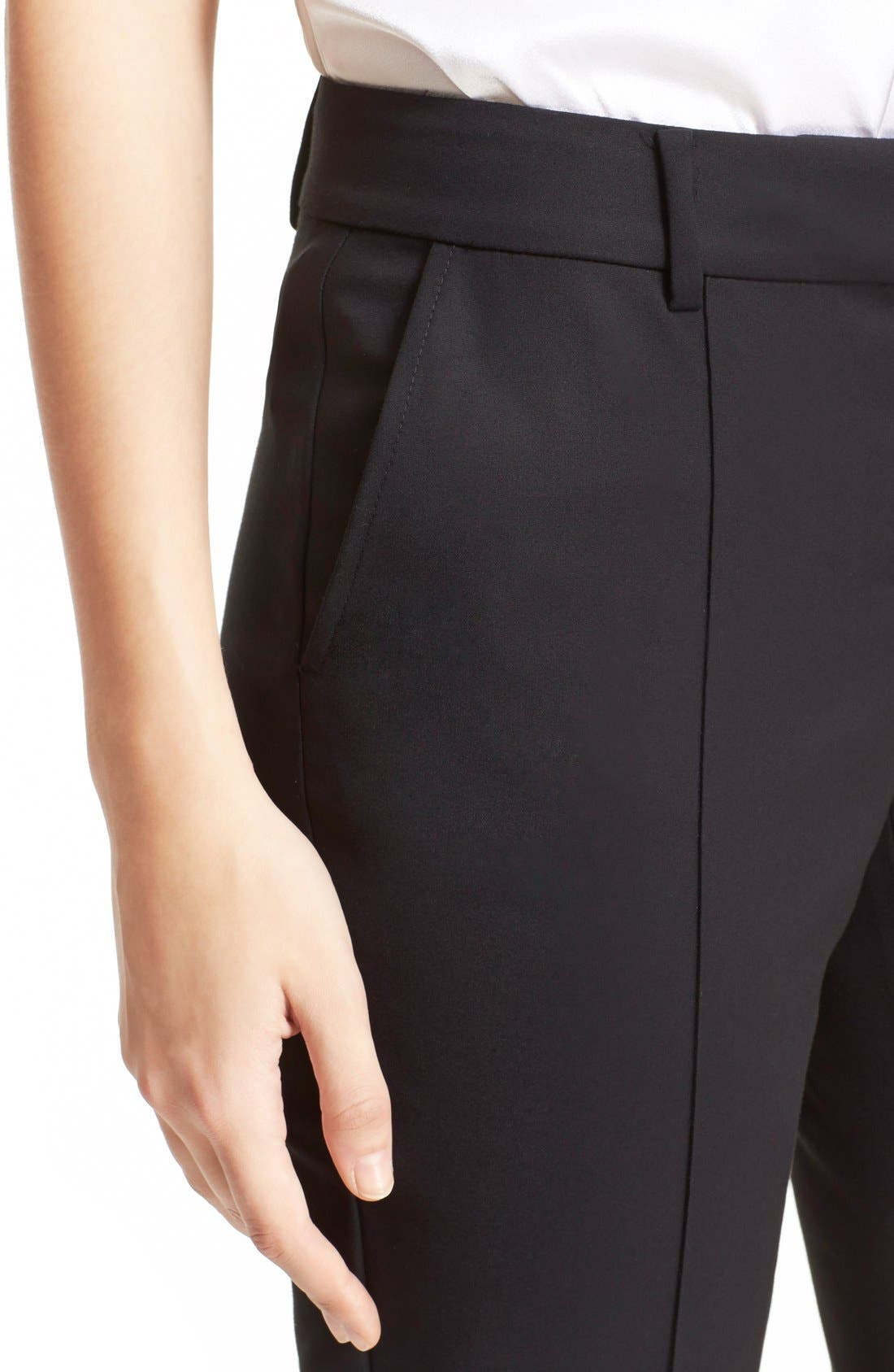 Alternate Image 6  - St. John Collection 'Jennifer' Stretch Micro Ottoman Ankle Pants