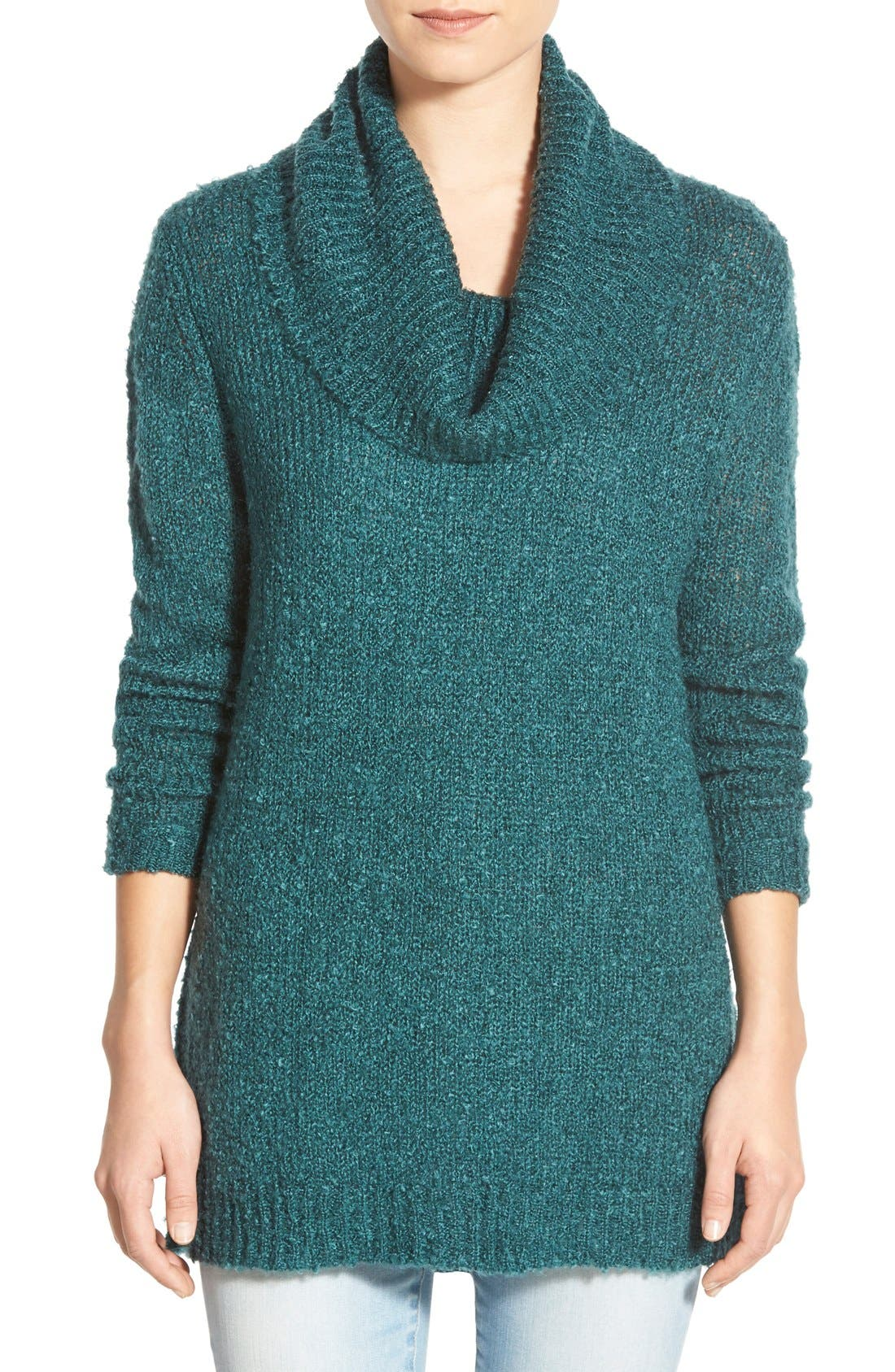 Main Image - BP. Cowl Neck Tunic Sweater
