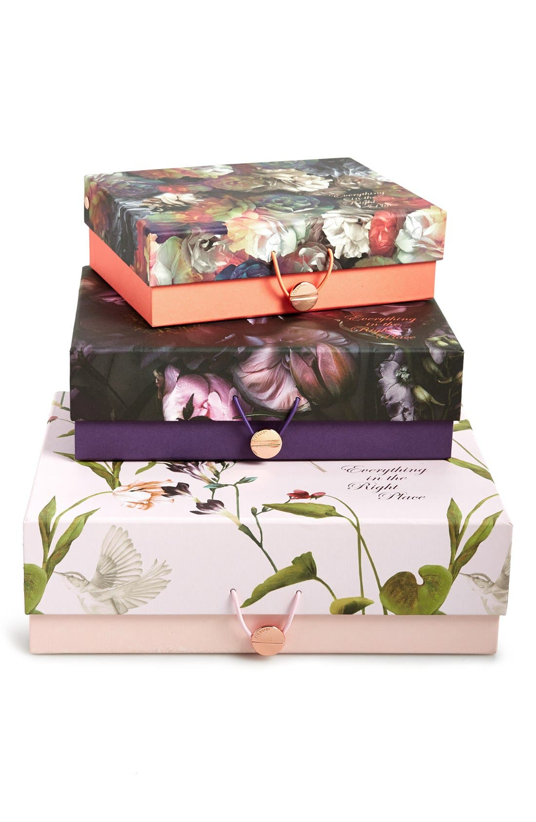 x Ted Baker London Floral Print Nesting Storage Boxes Main ...  sc 1 st  Nordstrom & Wild and Wolf x Ted Baker London Floral Print Nesting Storage Boxes ...