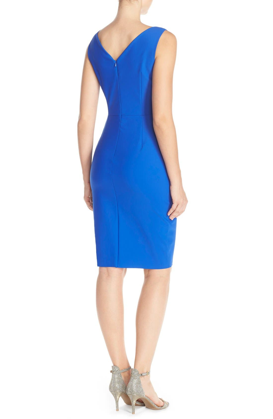 Side Ruched Dress,                             Alternate thumbnail 2, color,                             Royal