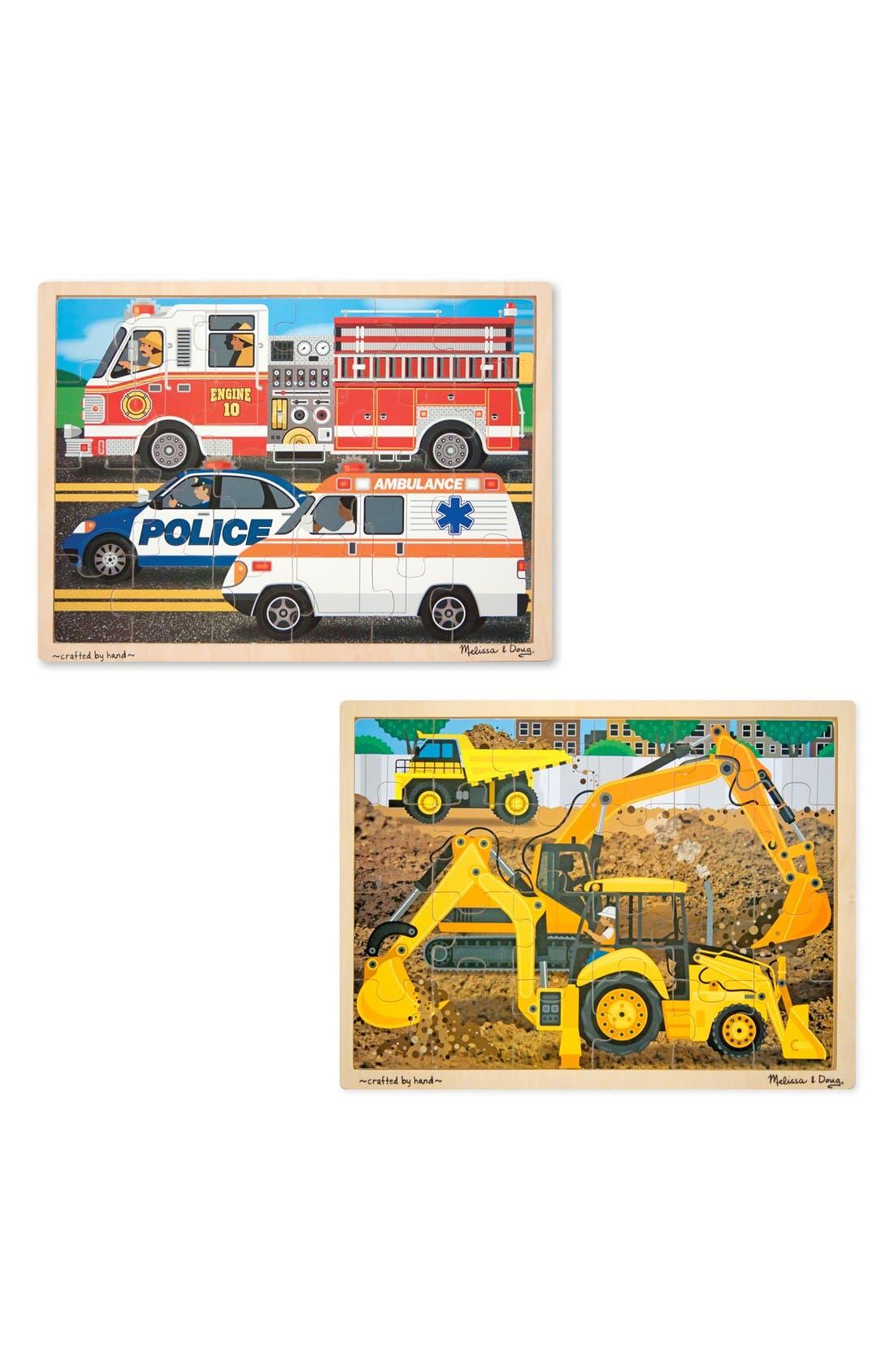 Melissa & Doug Construction/Rescue Jigsaw Puzzles (Set of 2)