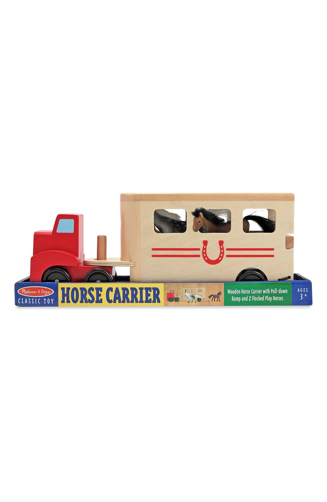 Horse Trailer Play Set,                             Alternate thumbnail 2, color,                             Brown