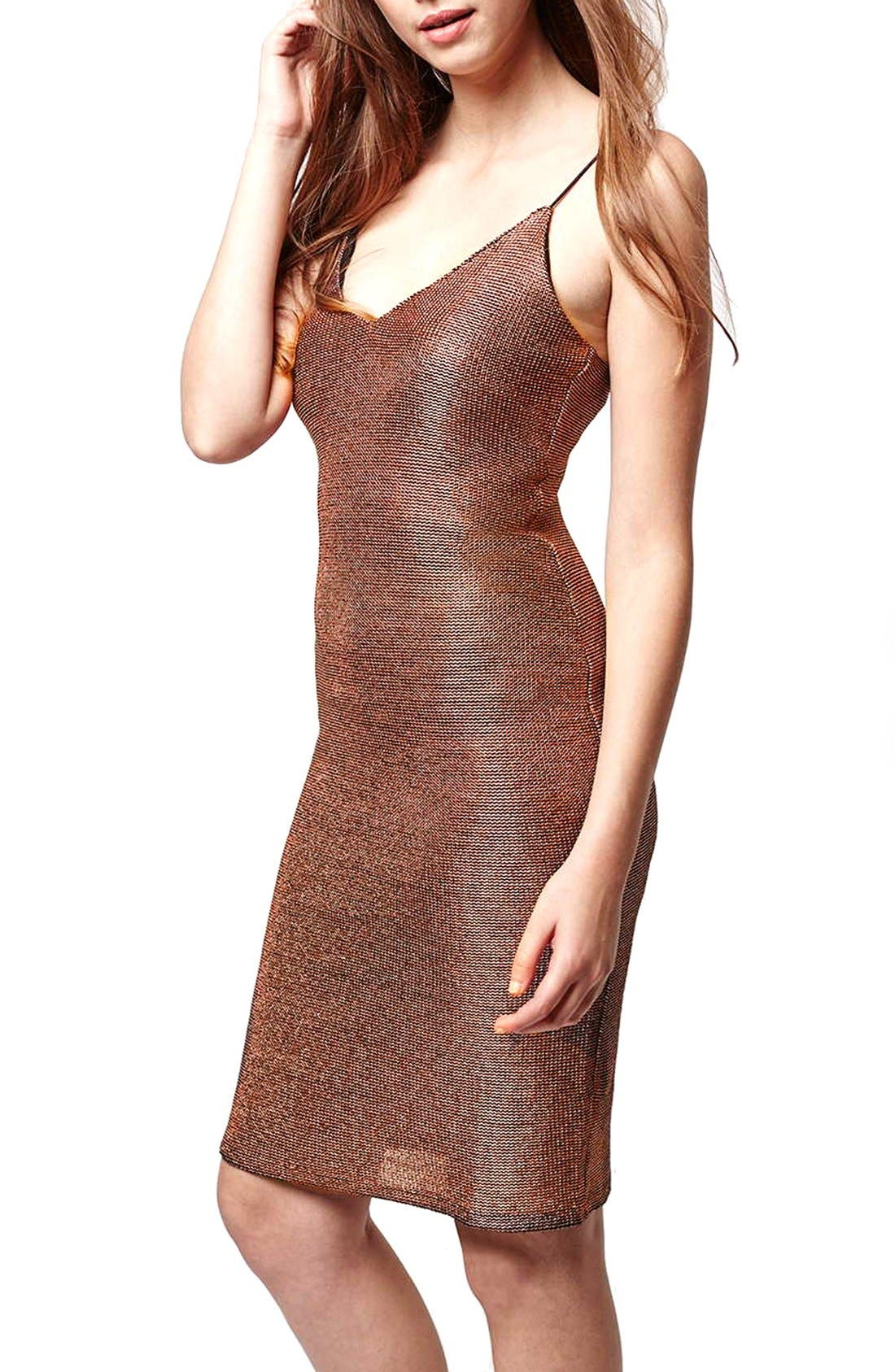 Alternate Image 4  - Topshop Strappy Chainmail Body-Con Dress