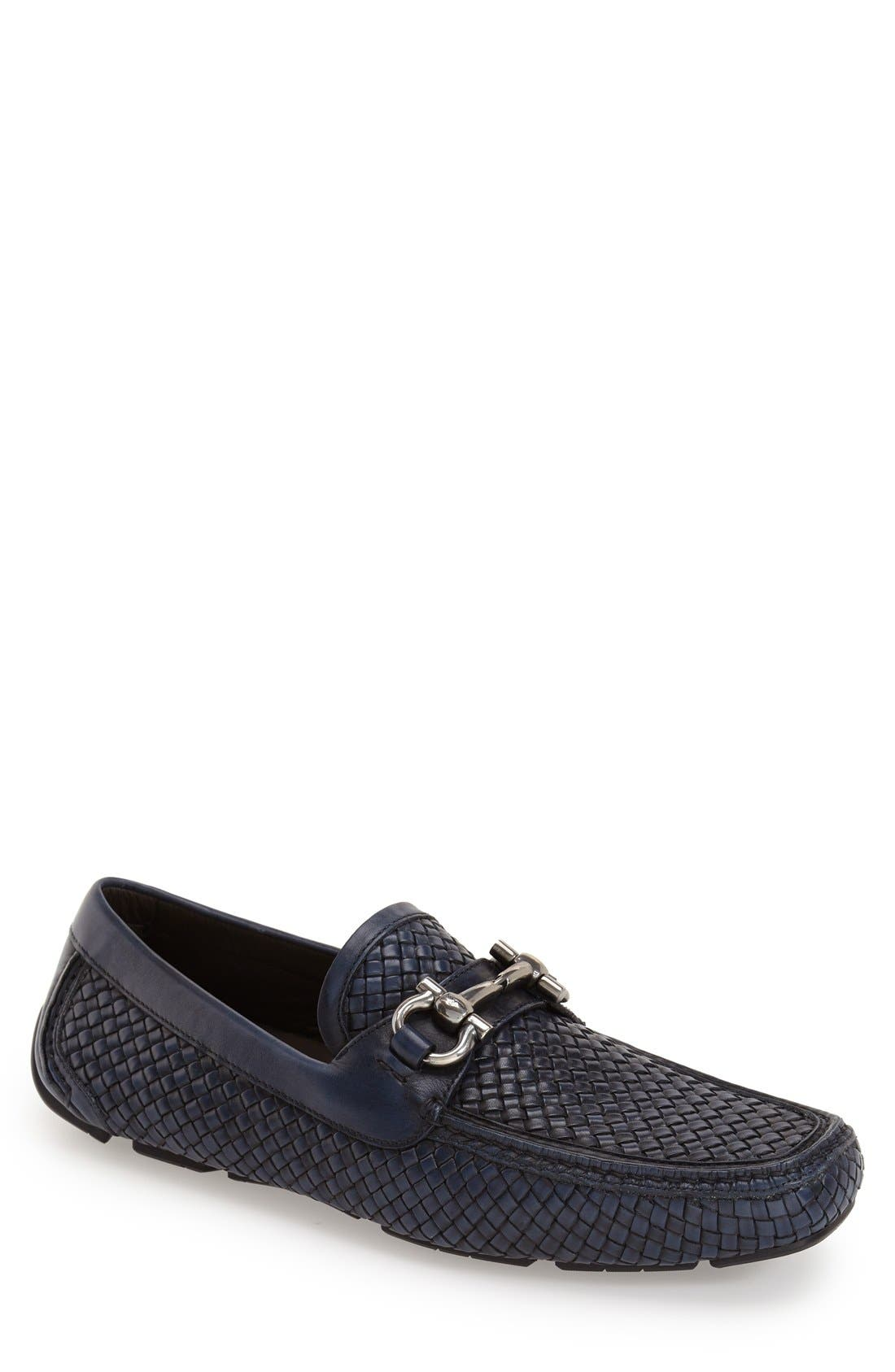 Alternate Image 1 Selected - Salvatore Ferragamo 'Parigi' Woven Bit Loafer (Men)