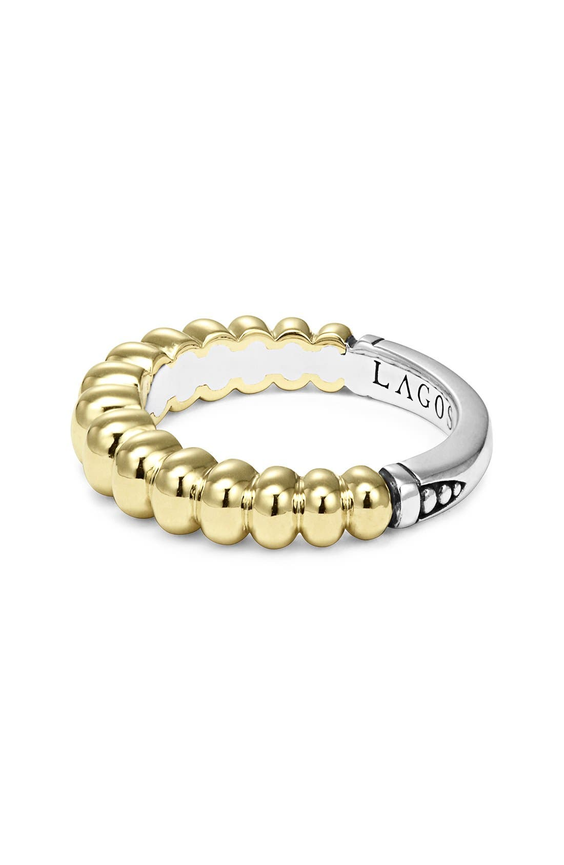 Fluted Stacking Ring,                             Alternate thumbnail 2, color,                             Gold