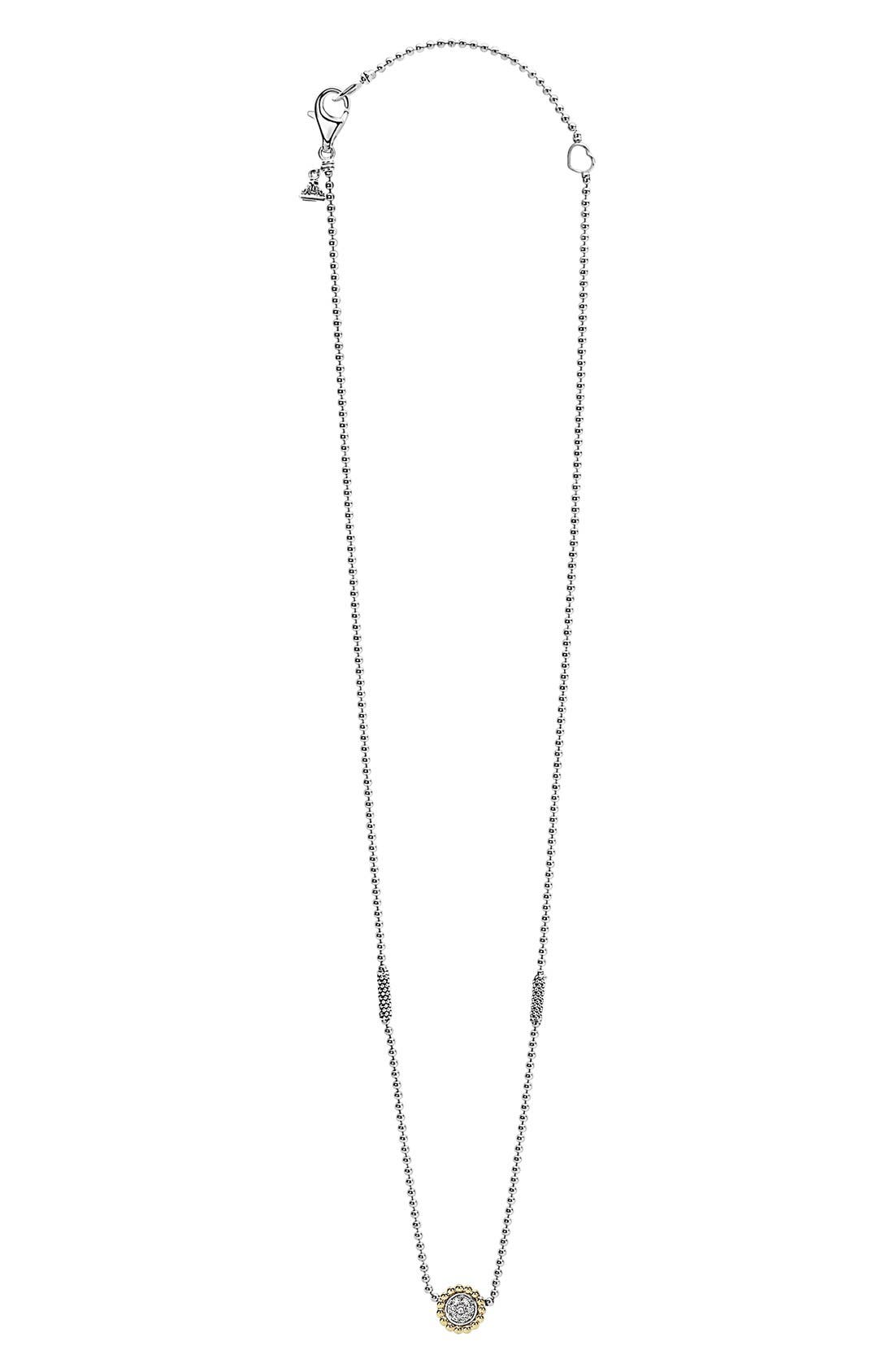 Alternate Image 2  - LAGOS 'Caviar' Circle Pendant Necklace