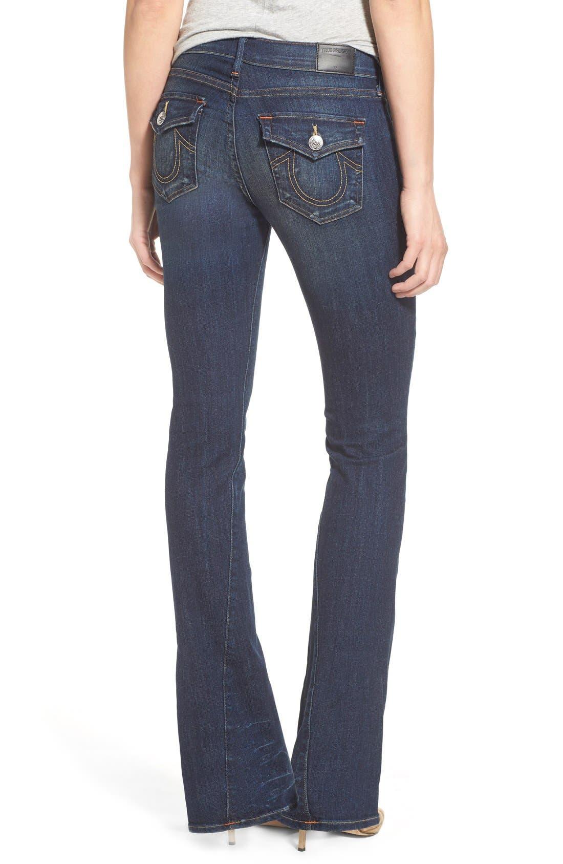 Alternate Image 2  - True Religion Brand Jeans 'Becca' Twisted Seam Bootcut Jeans (Boyfriend Wash)