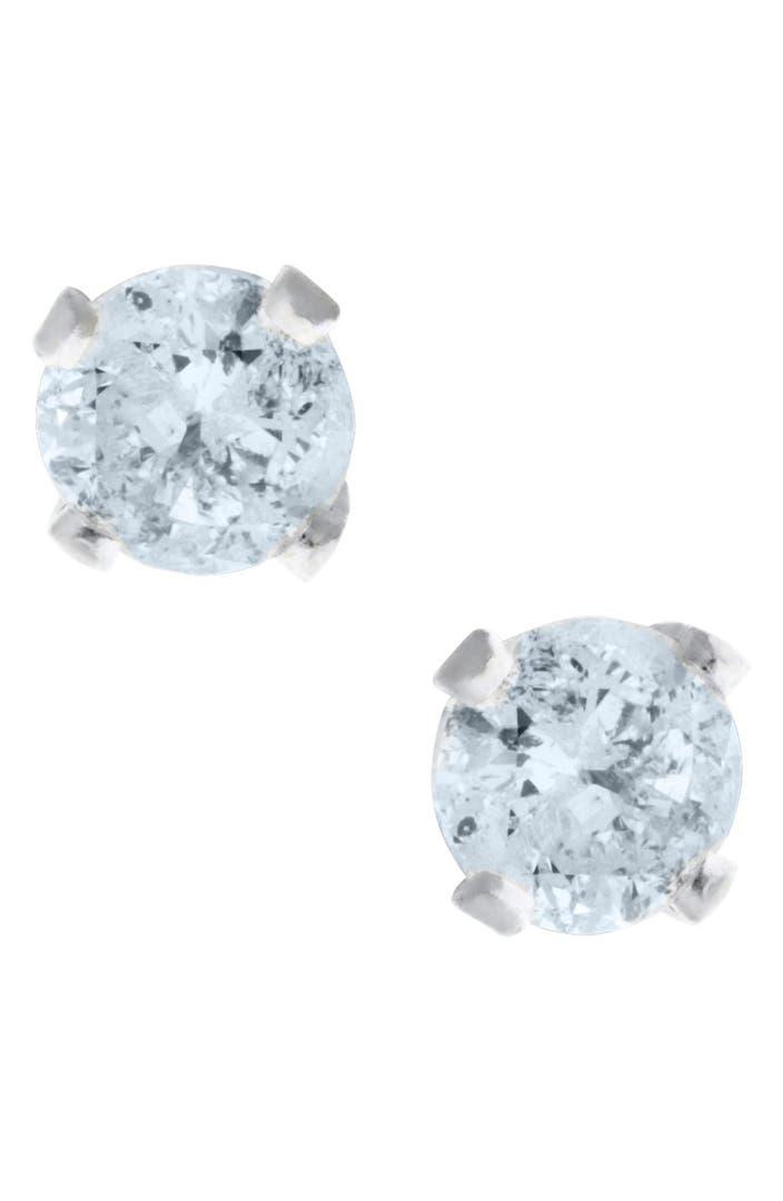 mignonette 14k white gold diamond stud earrings baby. Black Bedroom Furniture Sets. Home Design Ideas