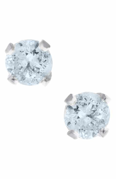 Mignonette 14k White Gold Diamond Stud Earrings Baby S
