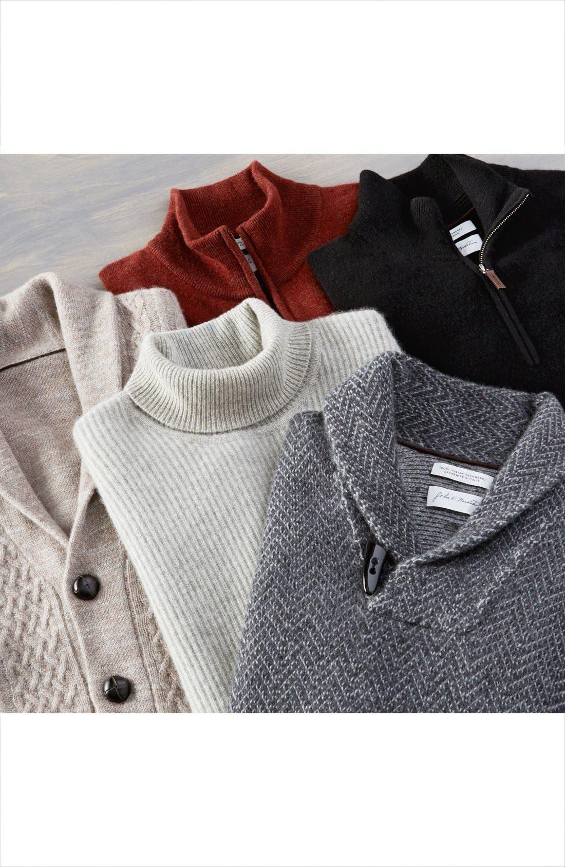 Alternate Image 6  - John W. Nordstrom® Shawl Collar Cashmere Sweater (Regular & Tall)